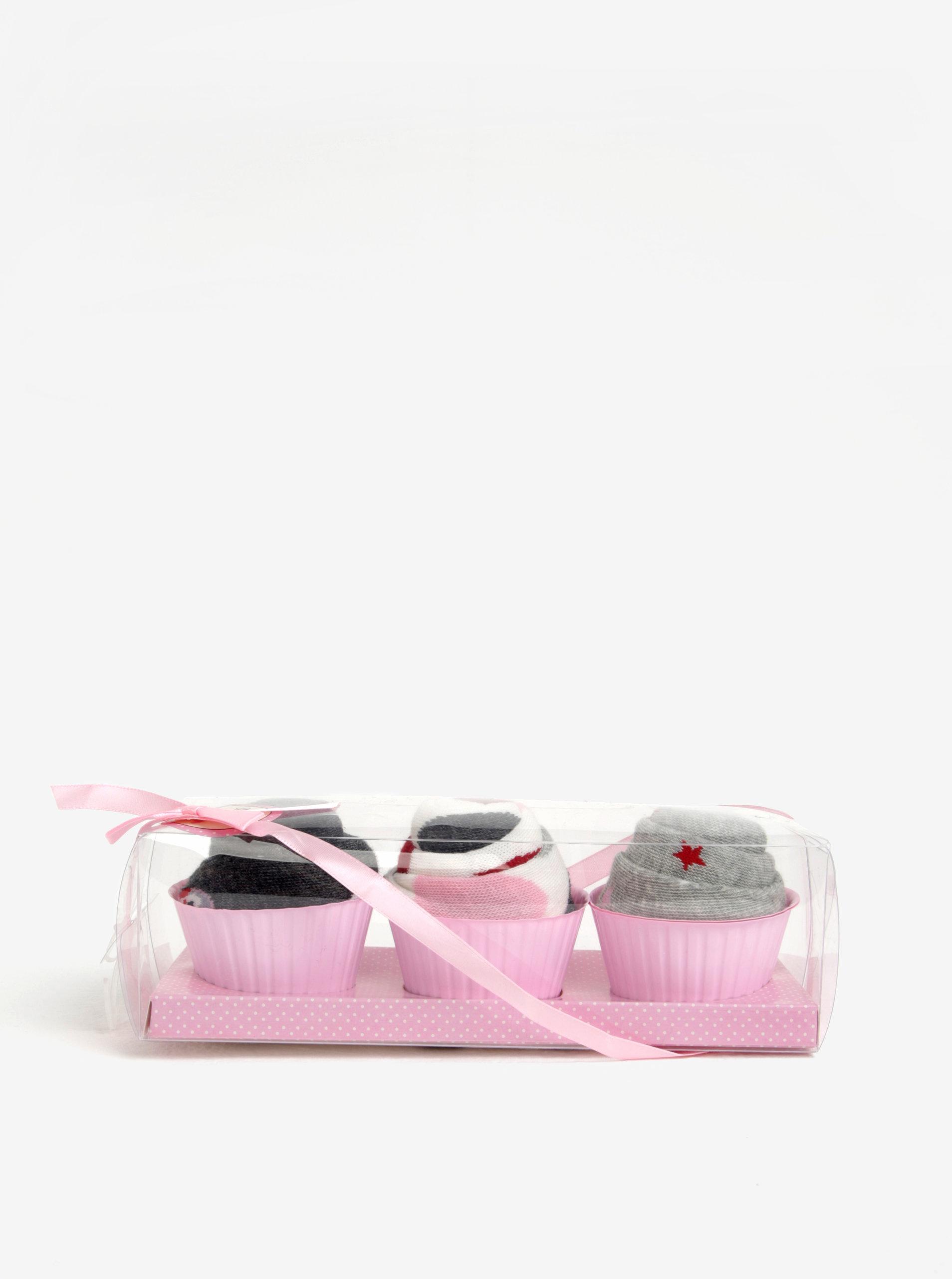 4d0d0ec1c80 Sada tří párů vzorovaných ponožek v šedé a krémové barvě Dorothy Perkins
