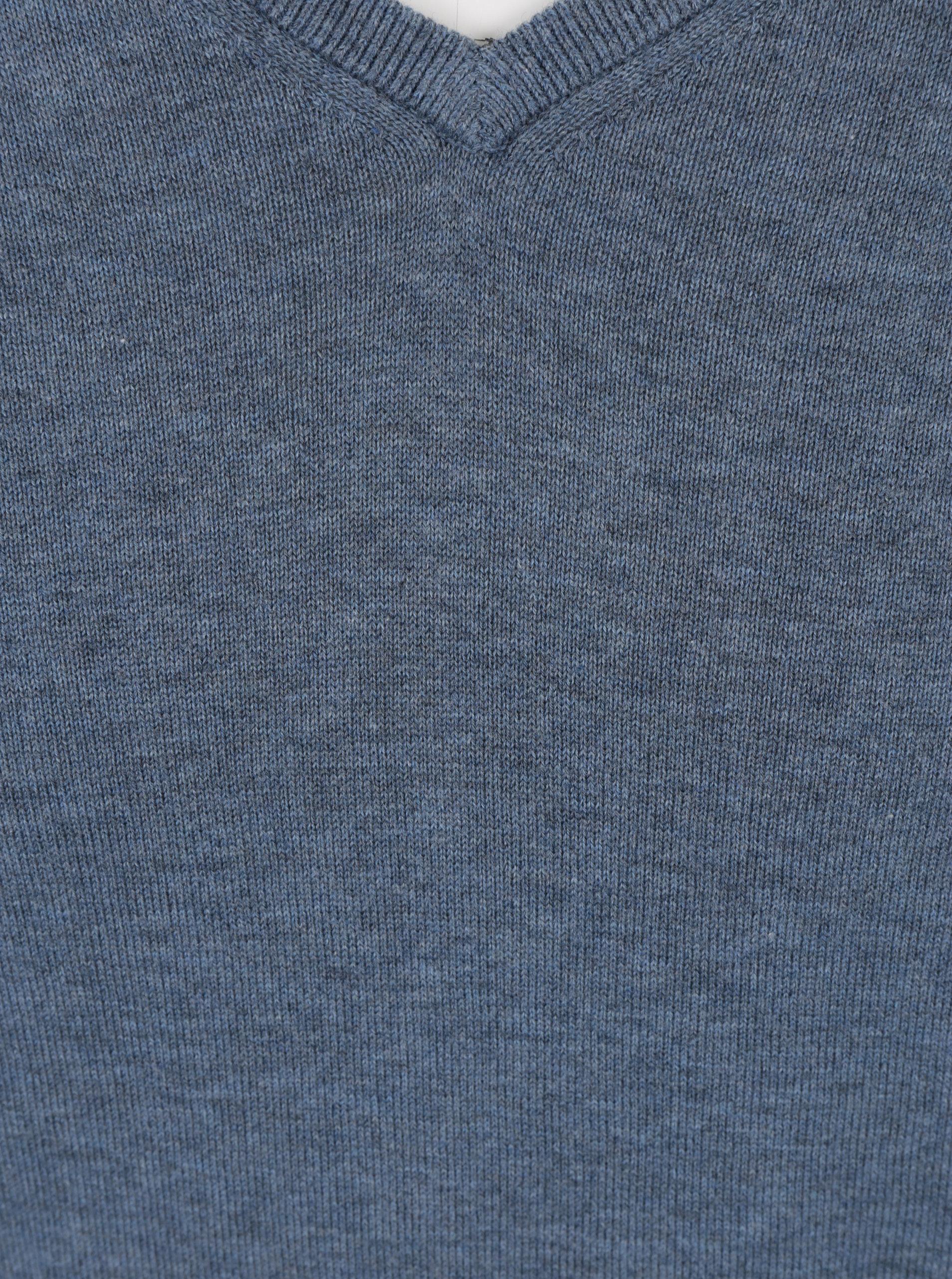 da061566db Modrý sveter s prímesou hodvábu Selected Homme Tower ...