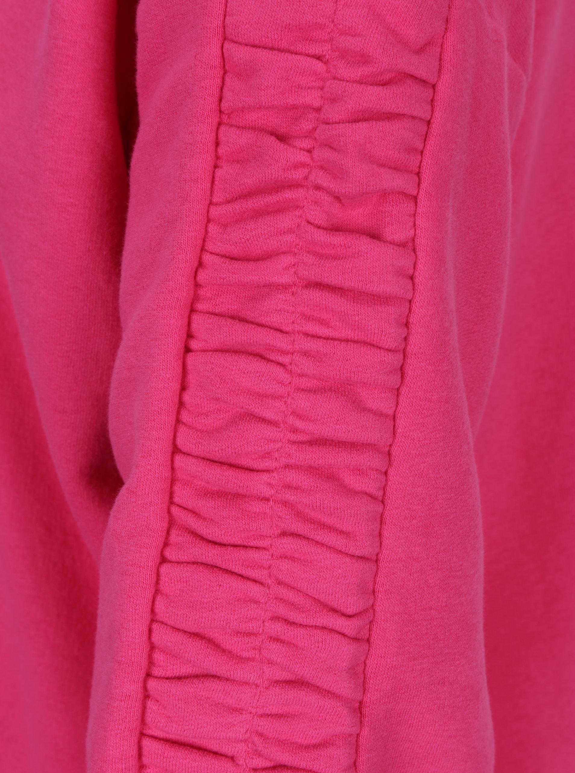 5d9e3b8506f Tmavě růžová mikina se stahováním na rukávech ONLY Winnie ...