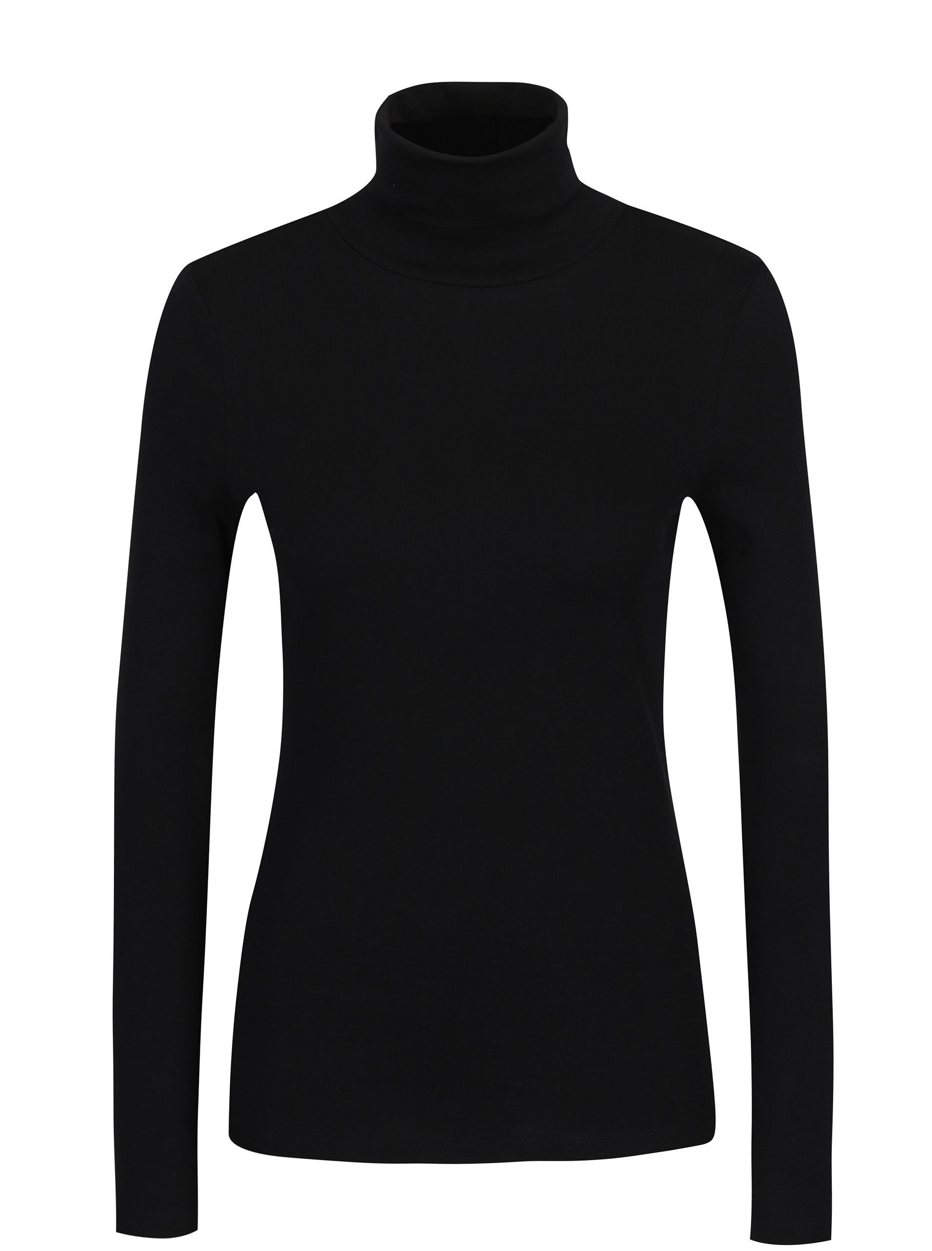 caae25ae7484 Černé dámské tričko s rolákem a dlouhým rukávem s.Oliver