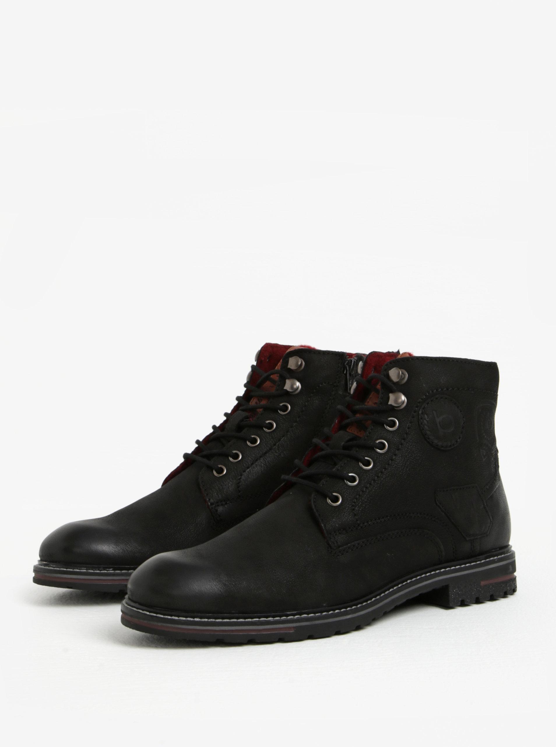 726d23553 Čierne pánske kožené členkové zimné topánky bugatti Ringo | ZOOT.sk