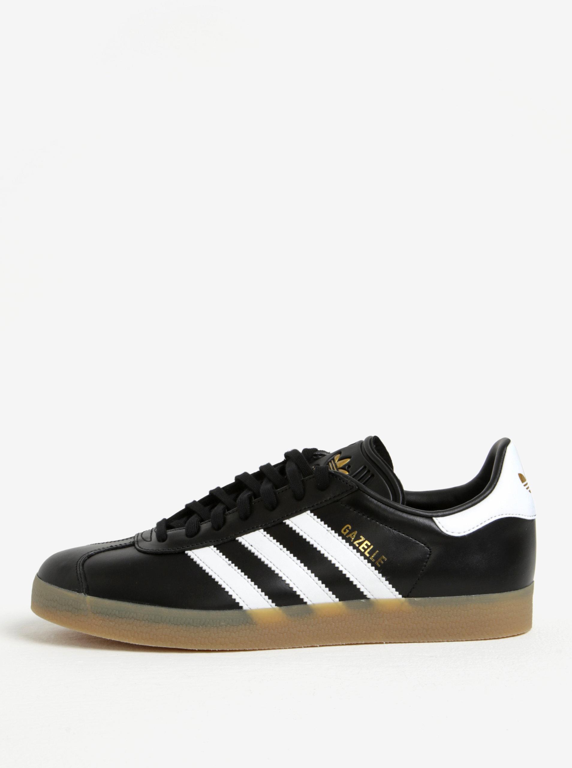 1cbe1d4e47 Černé pánské kožené tenisky adidas Originals Gazelle ...