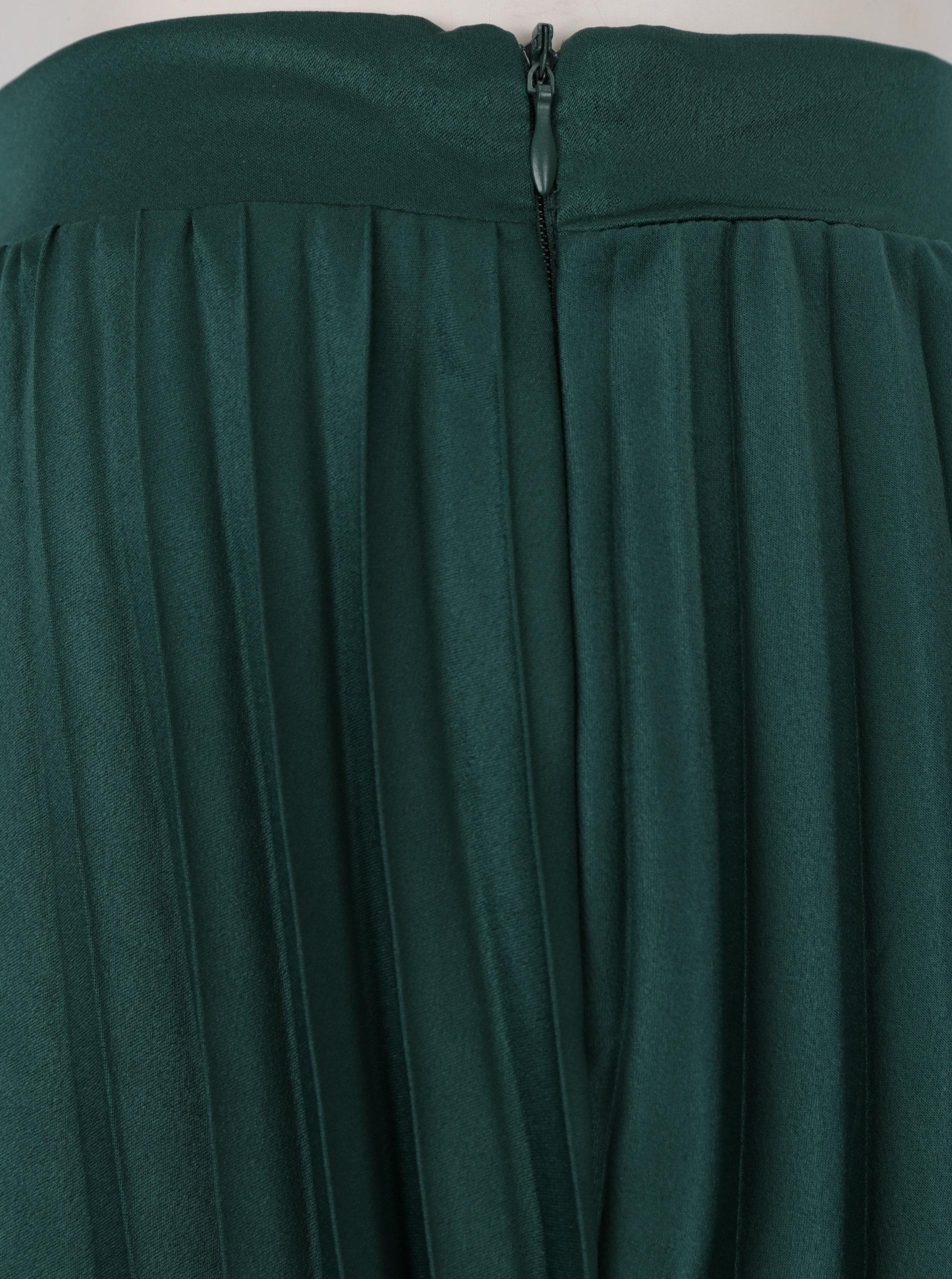 3d1922da2f9b Tmavě zelená plisovaná midi sukně ZOOT ...