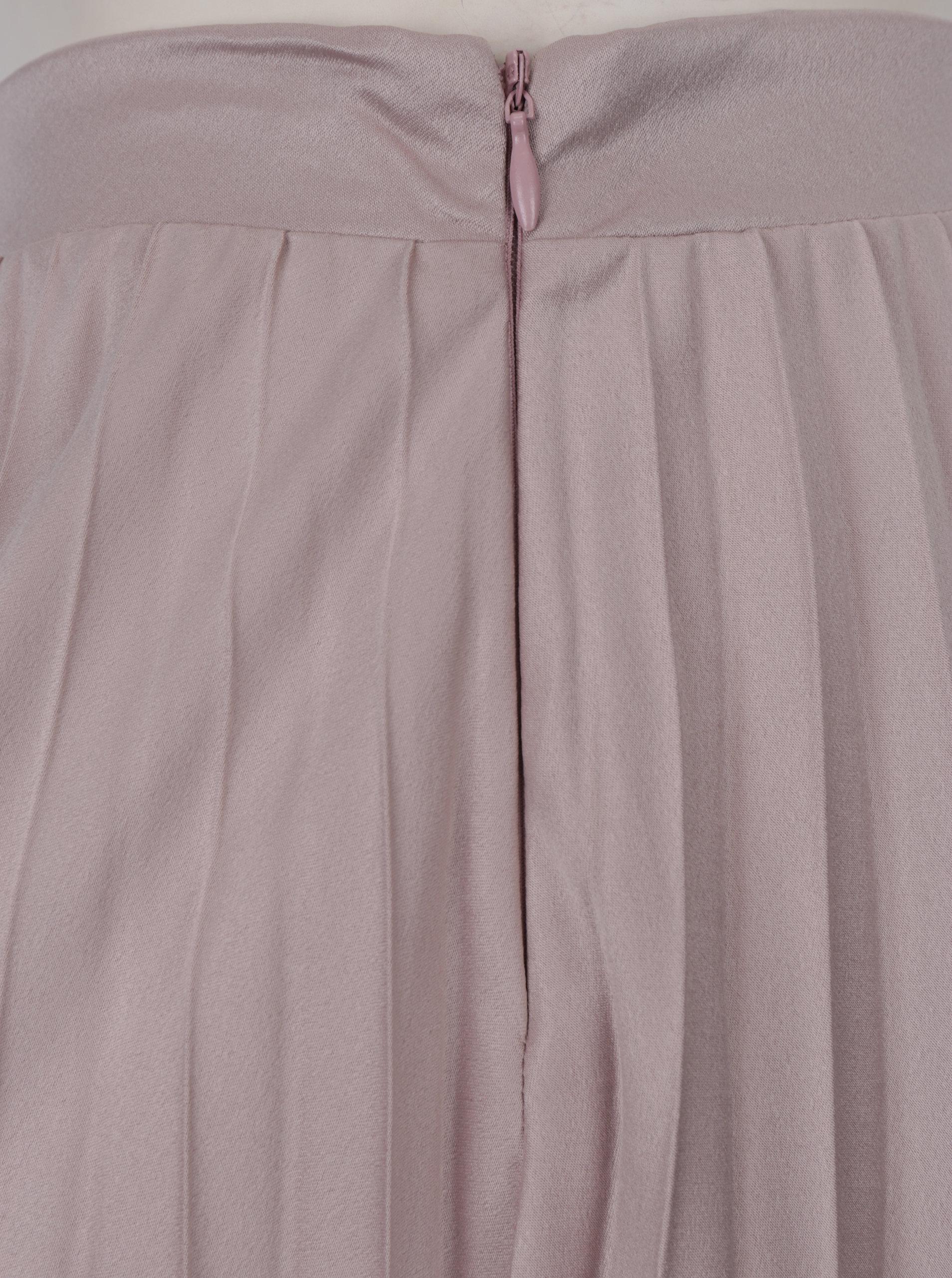 0dc9a4cbb18c Starorůžová plisovaná midi sukně ZOOT ...