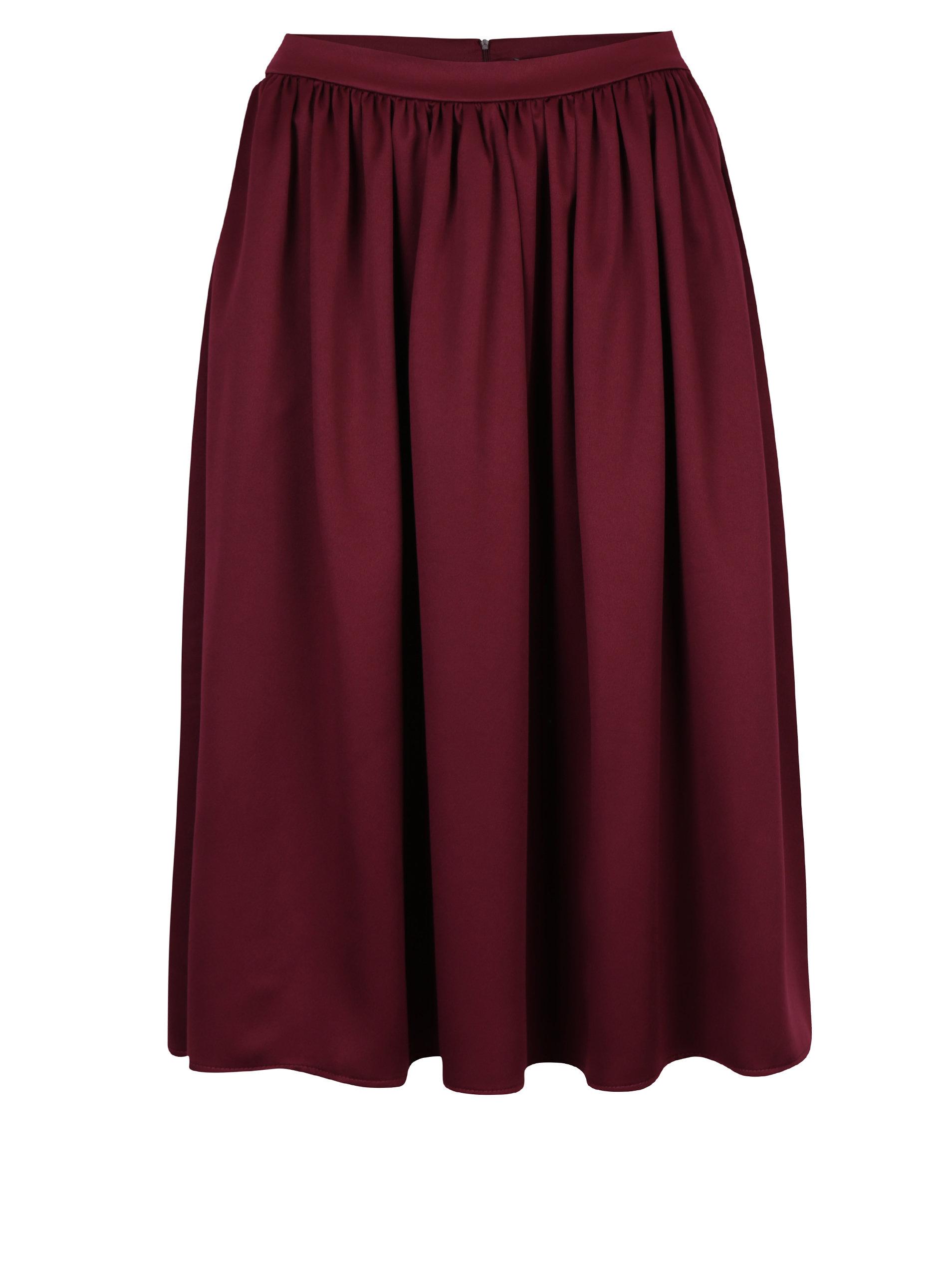 b4cac1e09656 Vínová áčková sukně ZOOT ...