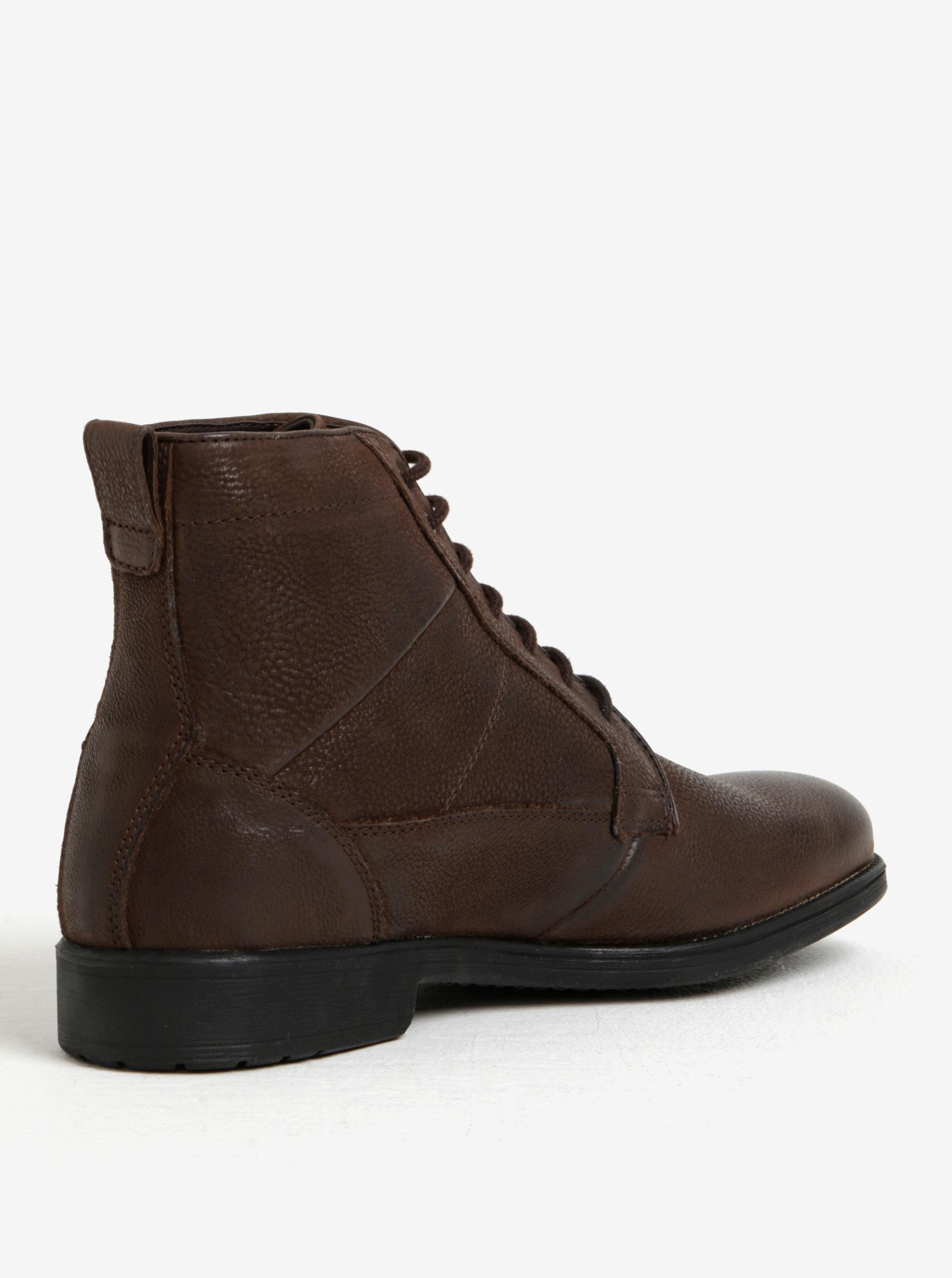 3390c4c9f75 Hnědé pánské zimní kožené kotníkové boty Geox Jaylon D ...
