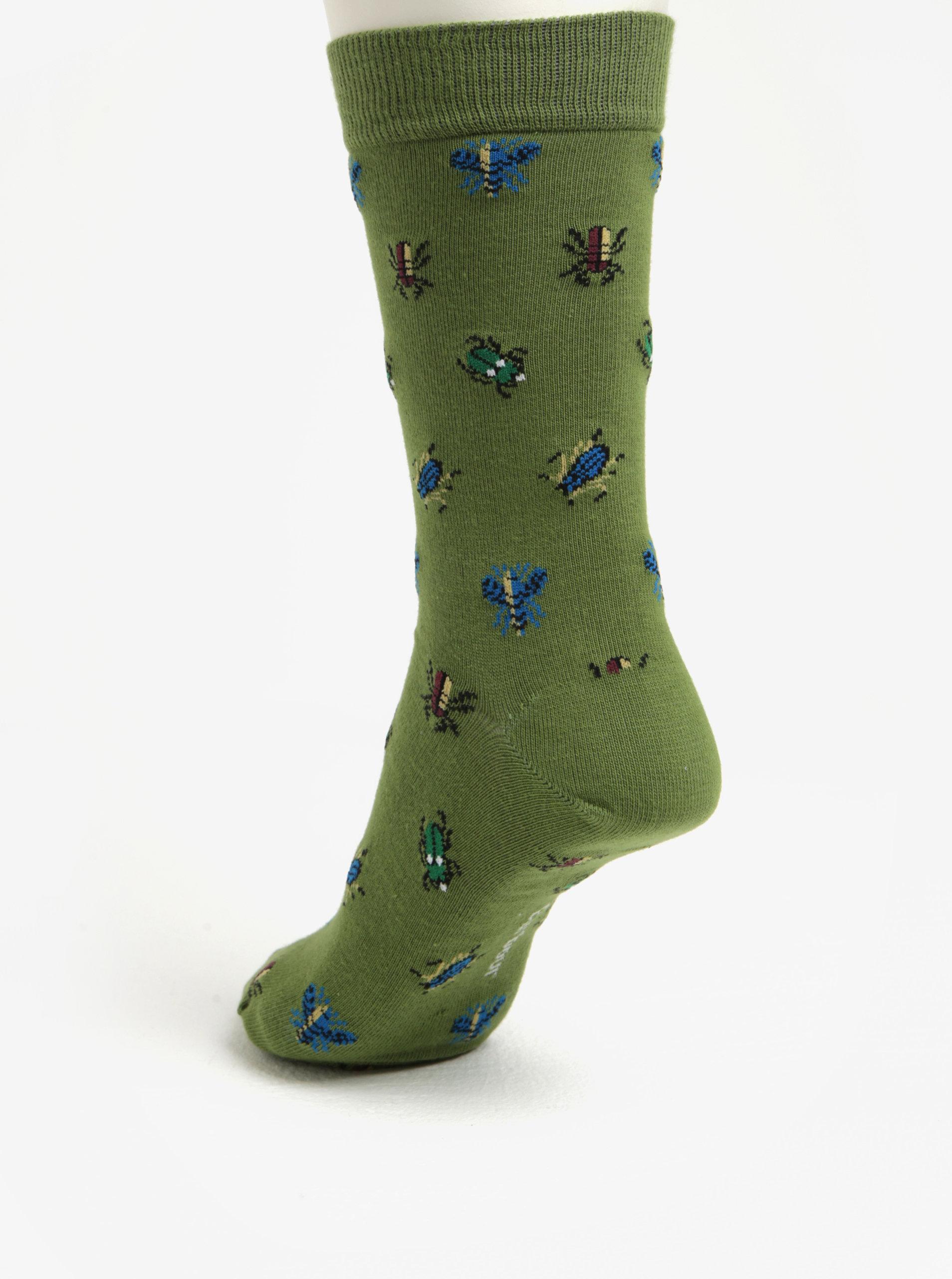 Zelené pánské ponožky se vzorem Barbour Beetle ... 3579f3610c