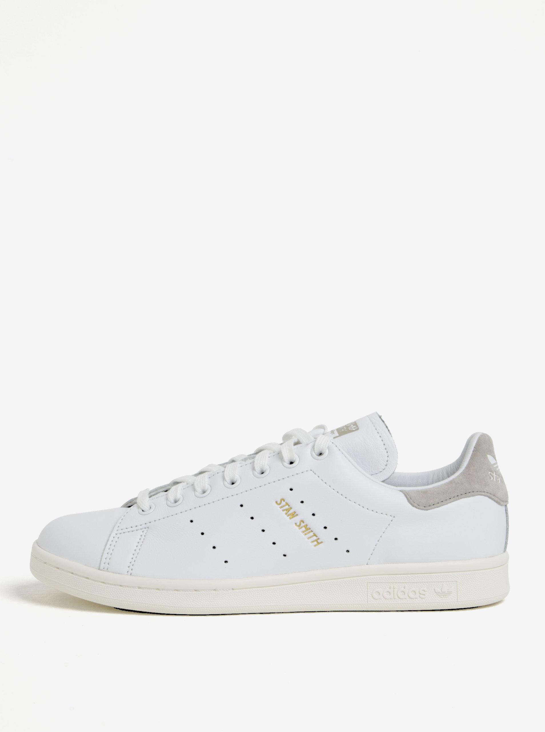 Biele pánske kožené tenisky adidas Originals Stan Smith ... 58dd38ebb8