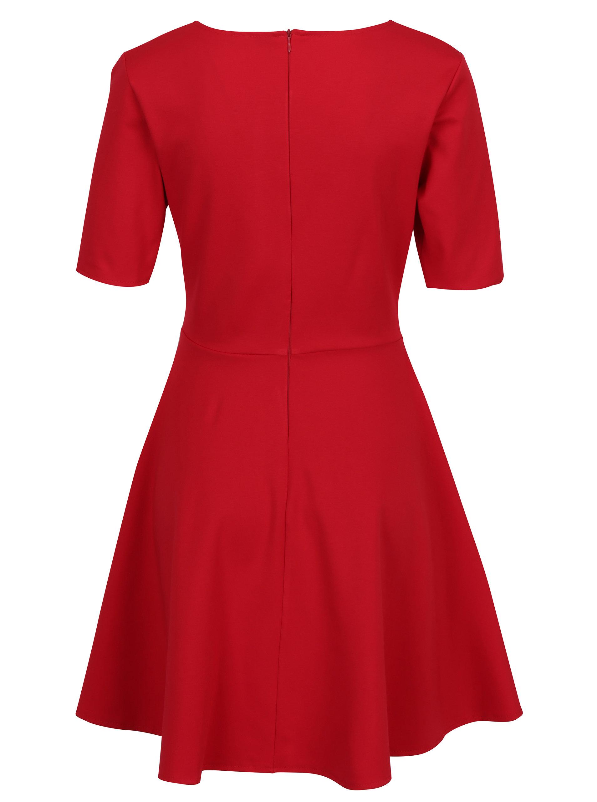 a133b67061a1 Červené šaty s áčkovou sukňou ZOOT ...