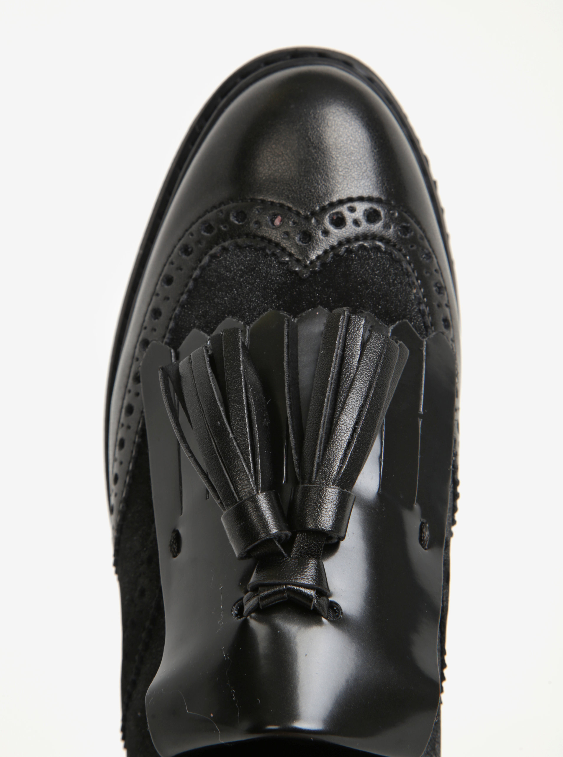 5db8001b8b Čierne dámske mokasíny so strapcami Geox Thymar ...