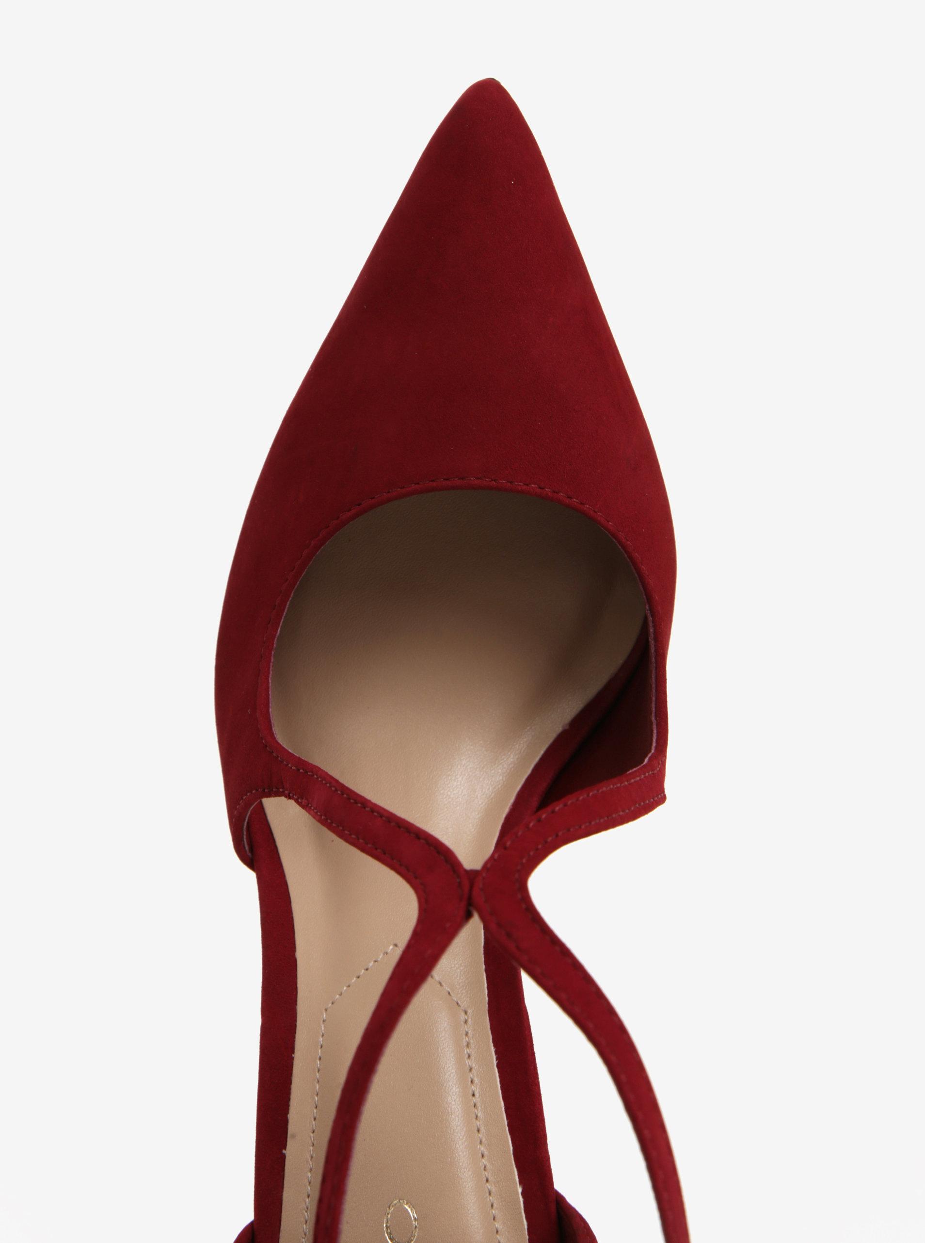 659c5836e8 Červené semišové sandálky ALDO Loverani ...