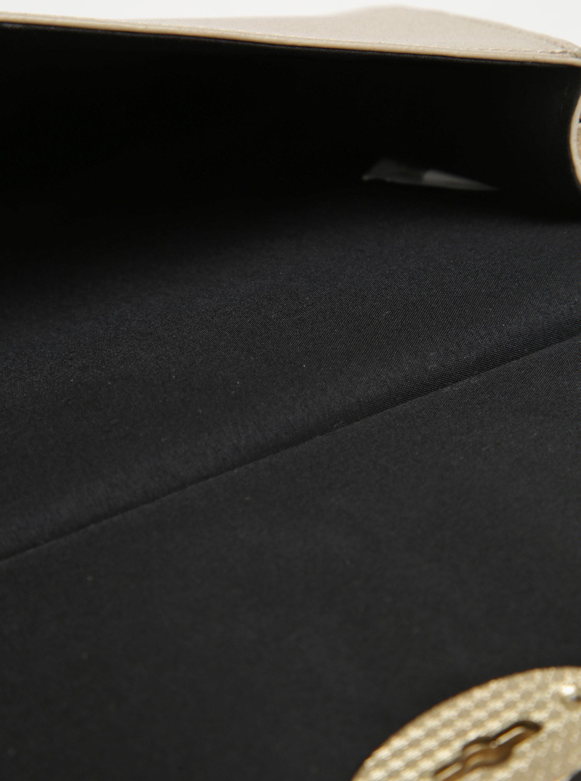 Metalická listová kabelka v zlatej farbe Juno ... ad86af806d