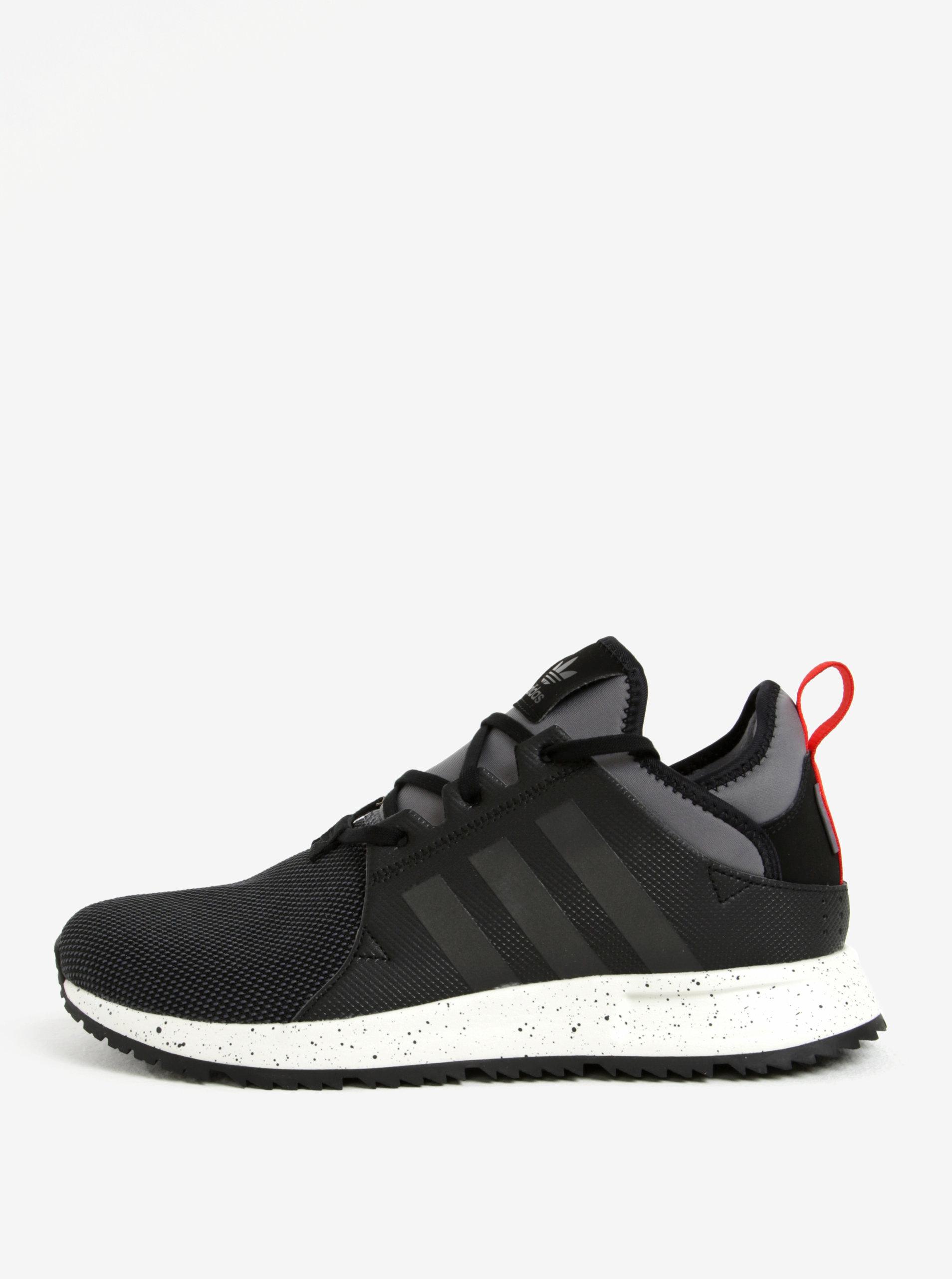 Sivo–čierne pánske tenisky adidas Originals PLR Sneakerboot ... 5973d7b34e8