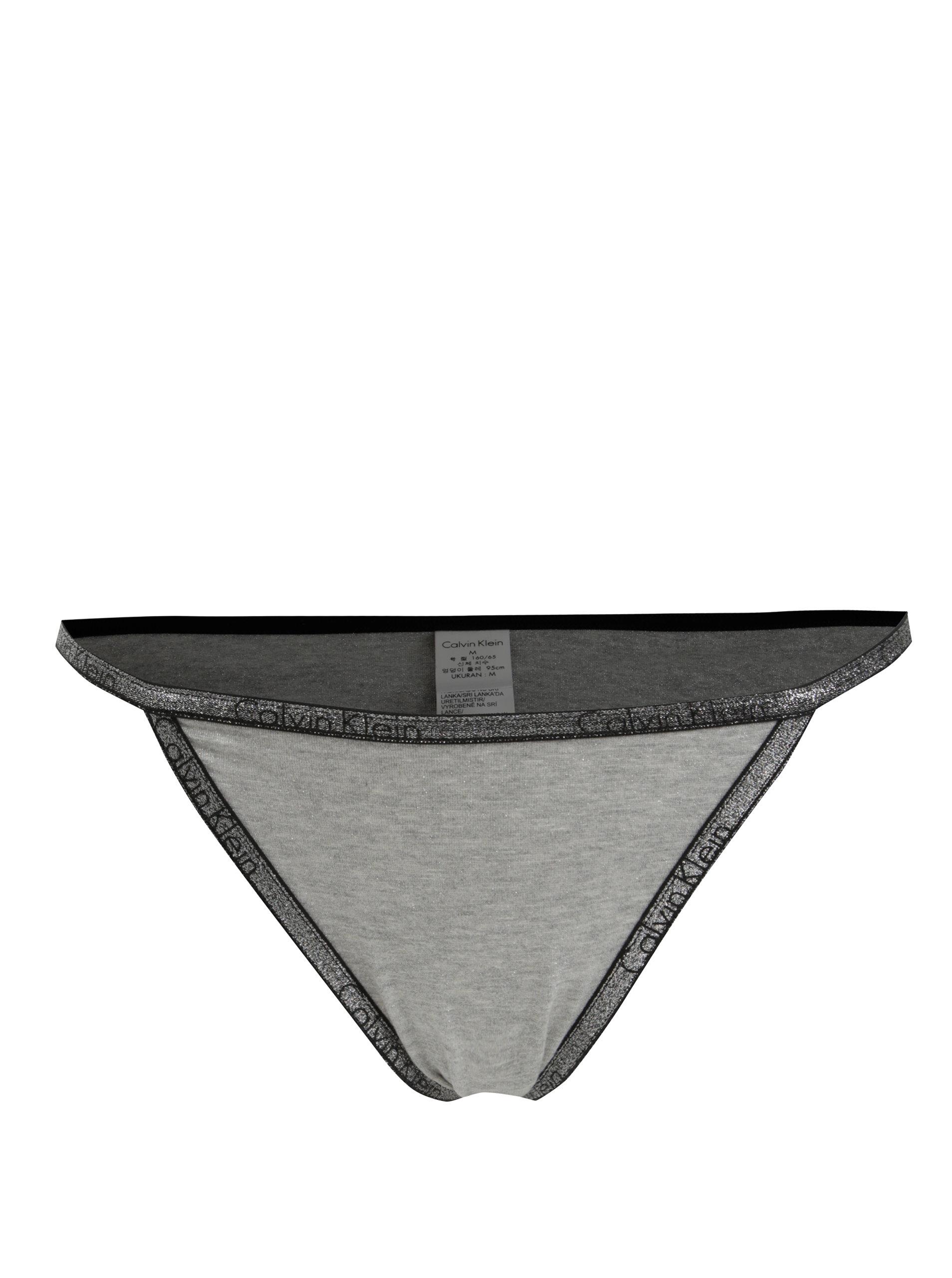 670b576411 Sivý trblietavý set podprsenky a nohavičiek Calvin Klein Underwear ...