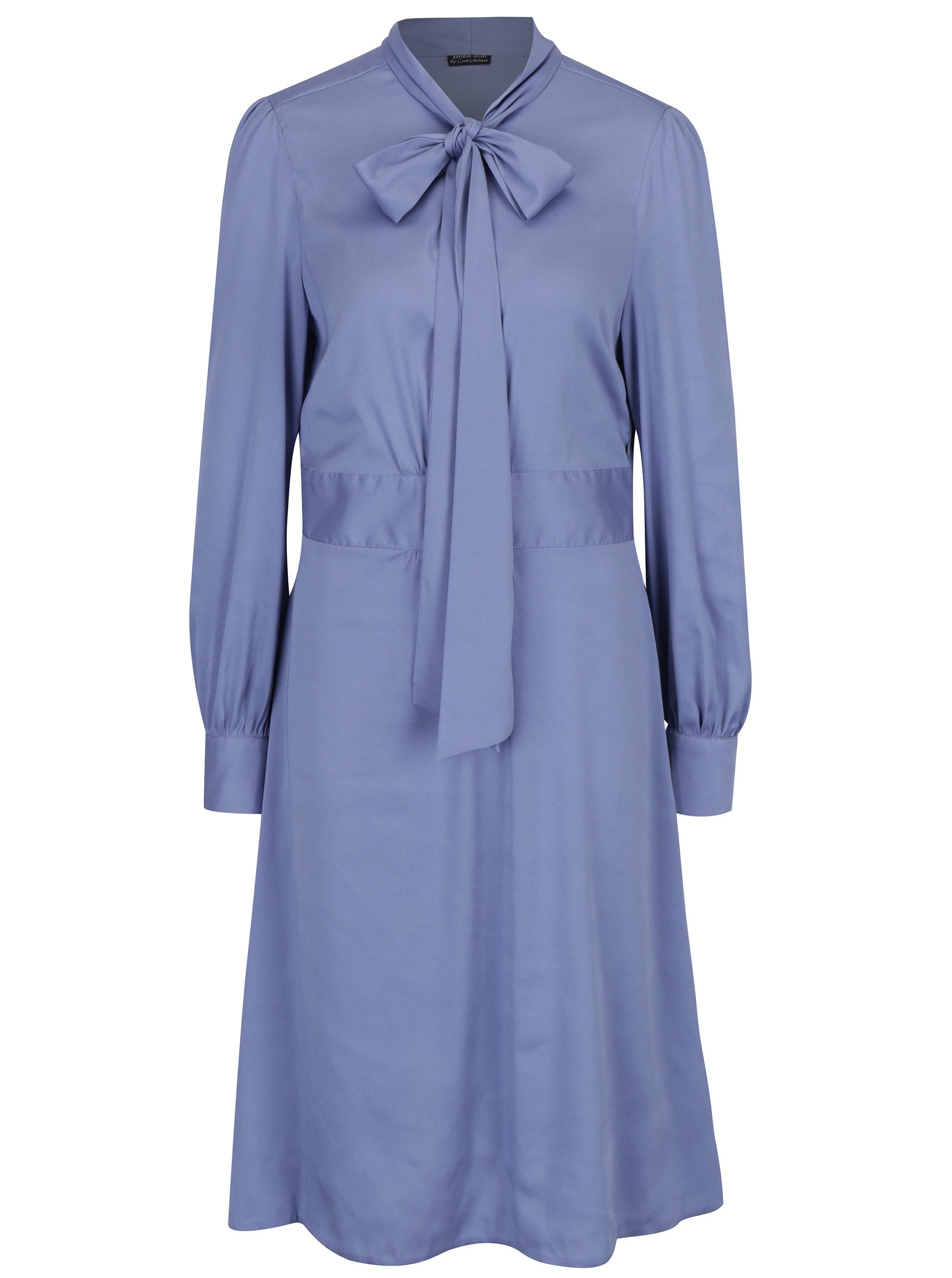 Světle fialové šaty s dlouhým rukávem Bohemian Tailors Bera ... 185a6f052f