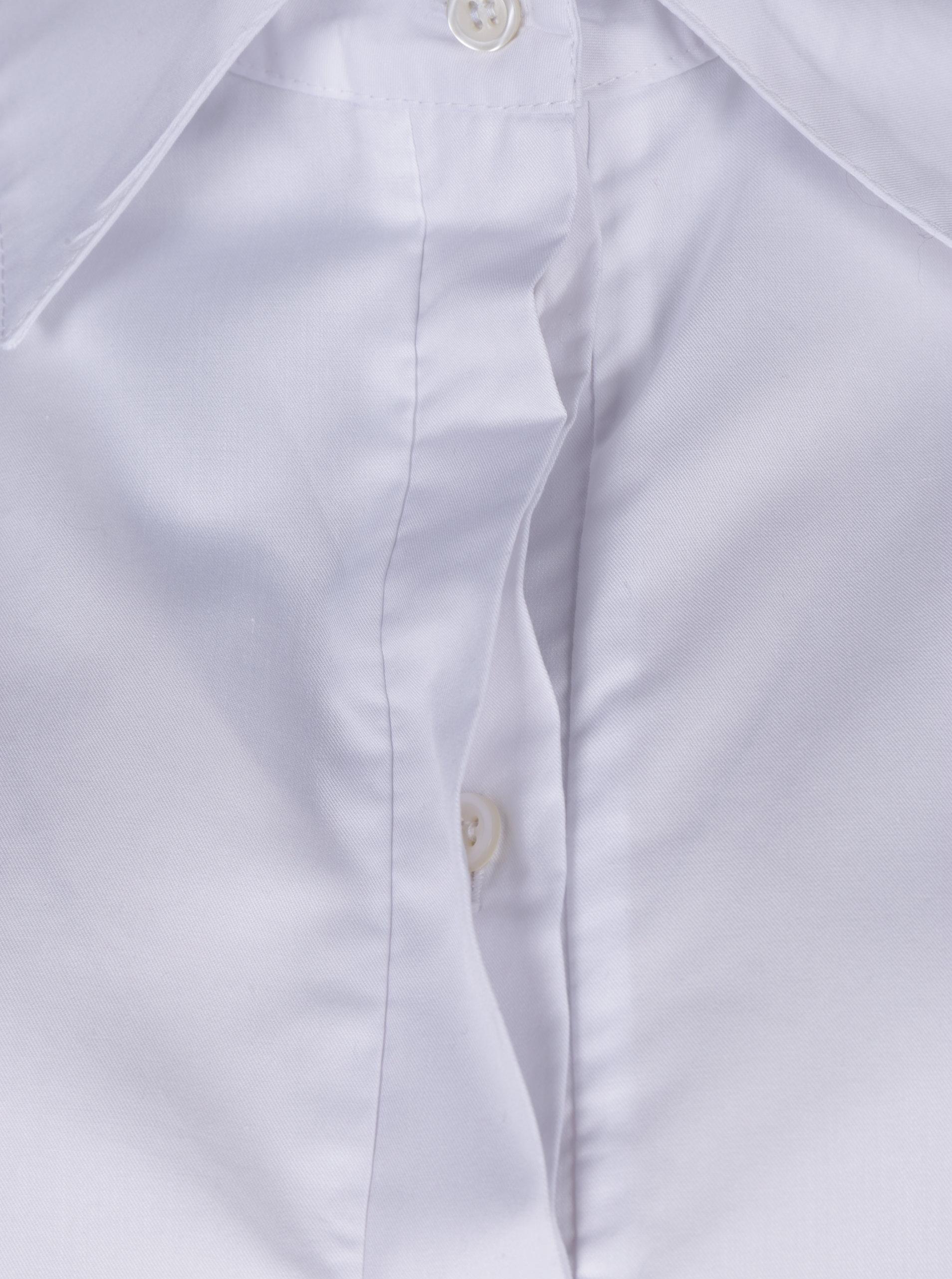 63f5d6b9f3c Bílá dámská košile s volány Bluzat ...