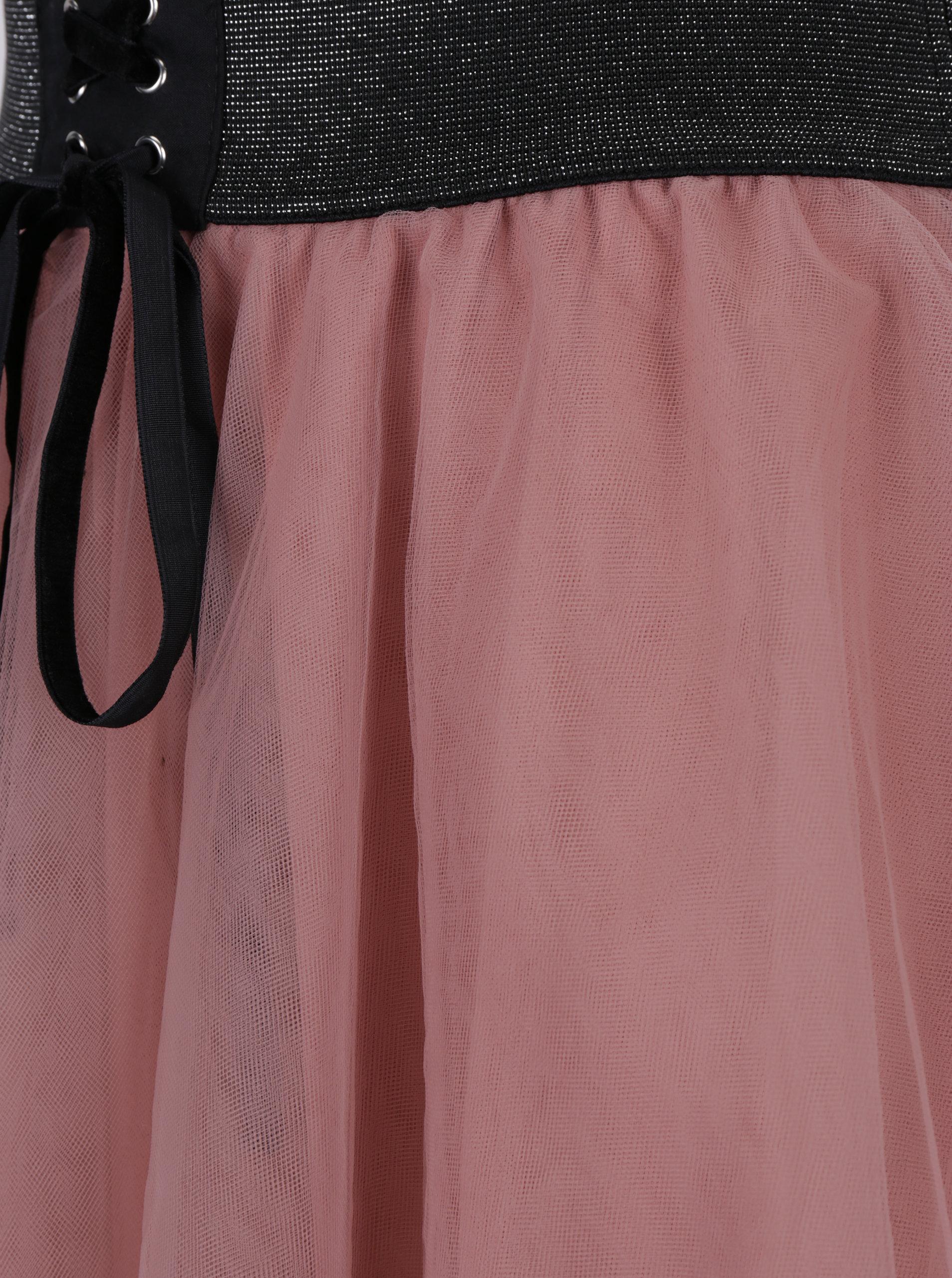 d245e6592900 Starorůžová áčková tylová sukně TALLY WEiJL ...