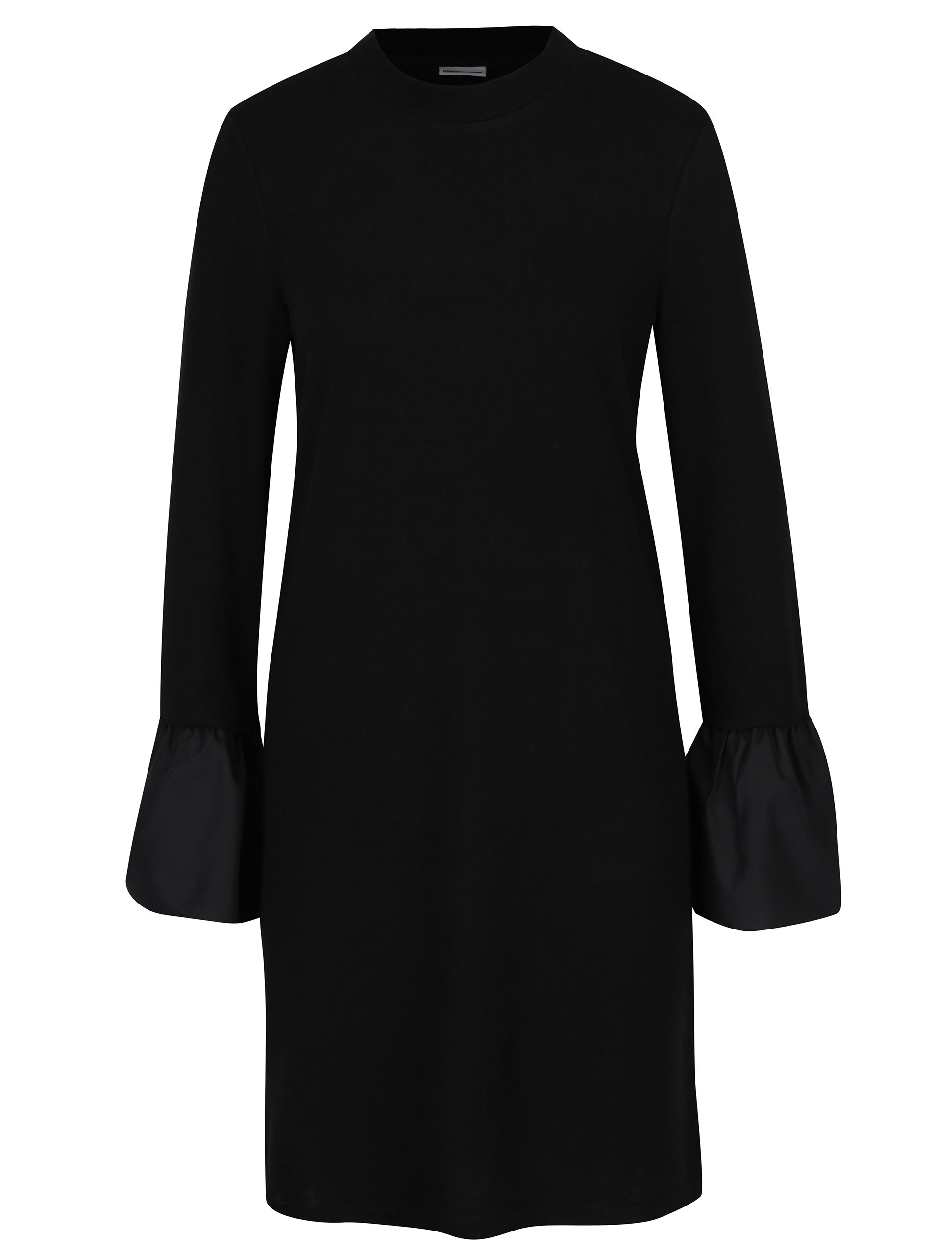 7f1527781d Čierne svetrové šaty s dlhým zvonovým rukávom Noisy May Nadine ...