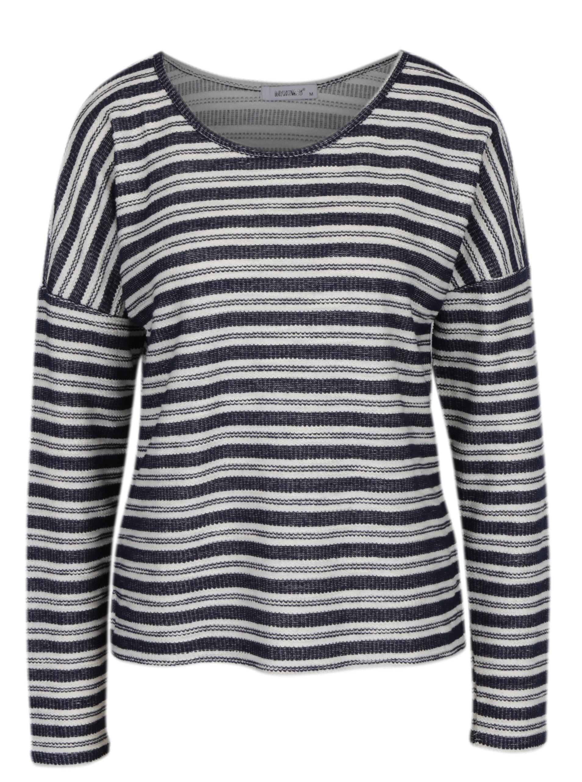 Tmavě modré pruhované tričko s dlouhým rukávem Haily´s Enni ... cfa3781ccd