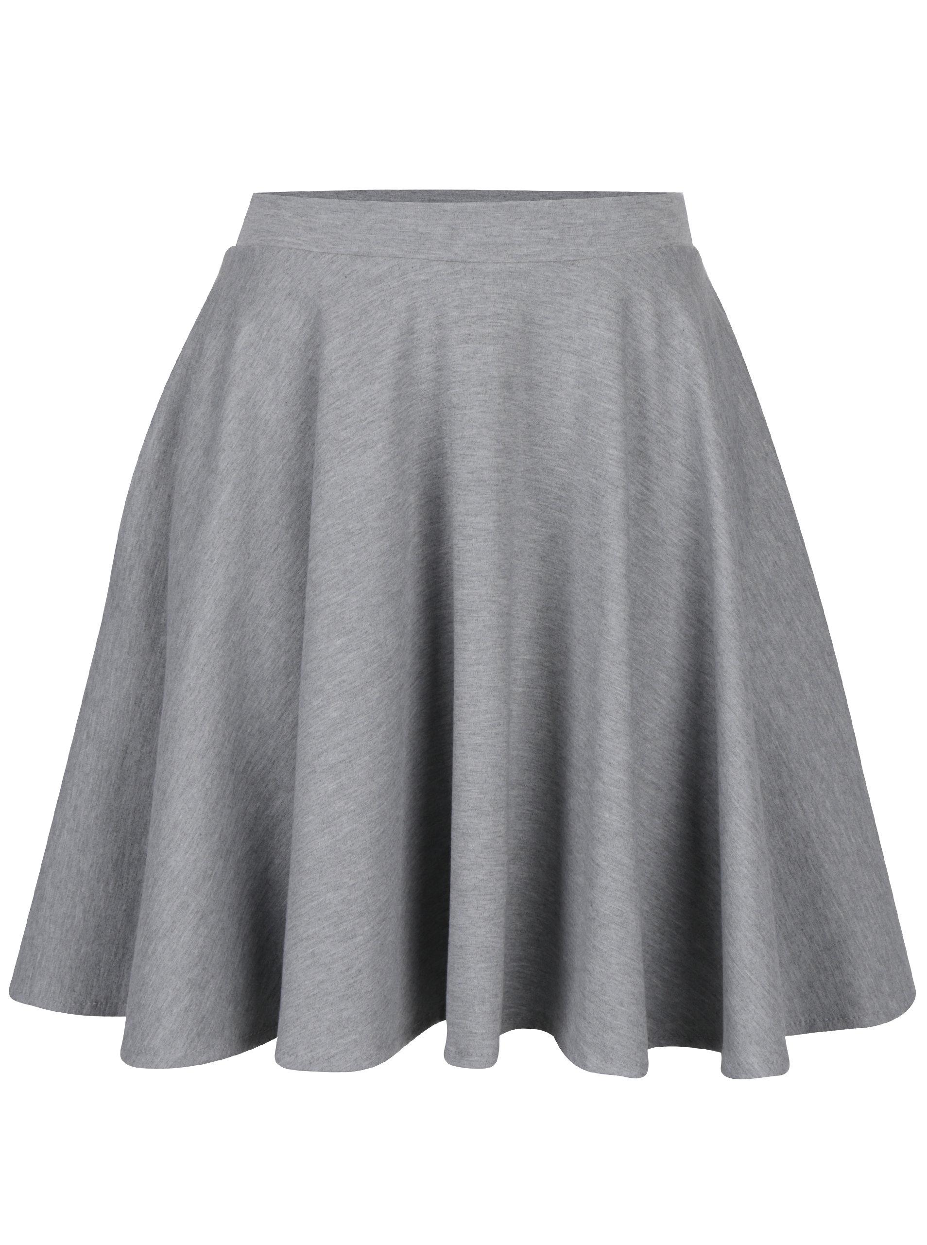 Šedá kolová sukně s kapsami ZOOT ... 9e2487a81b