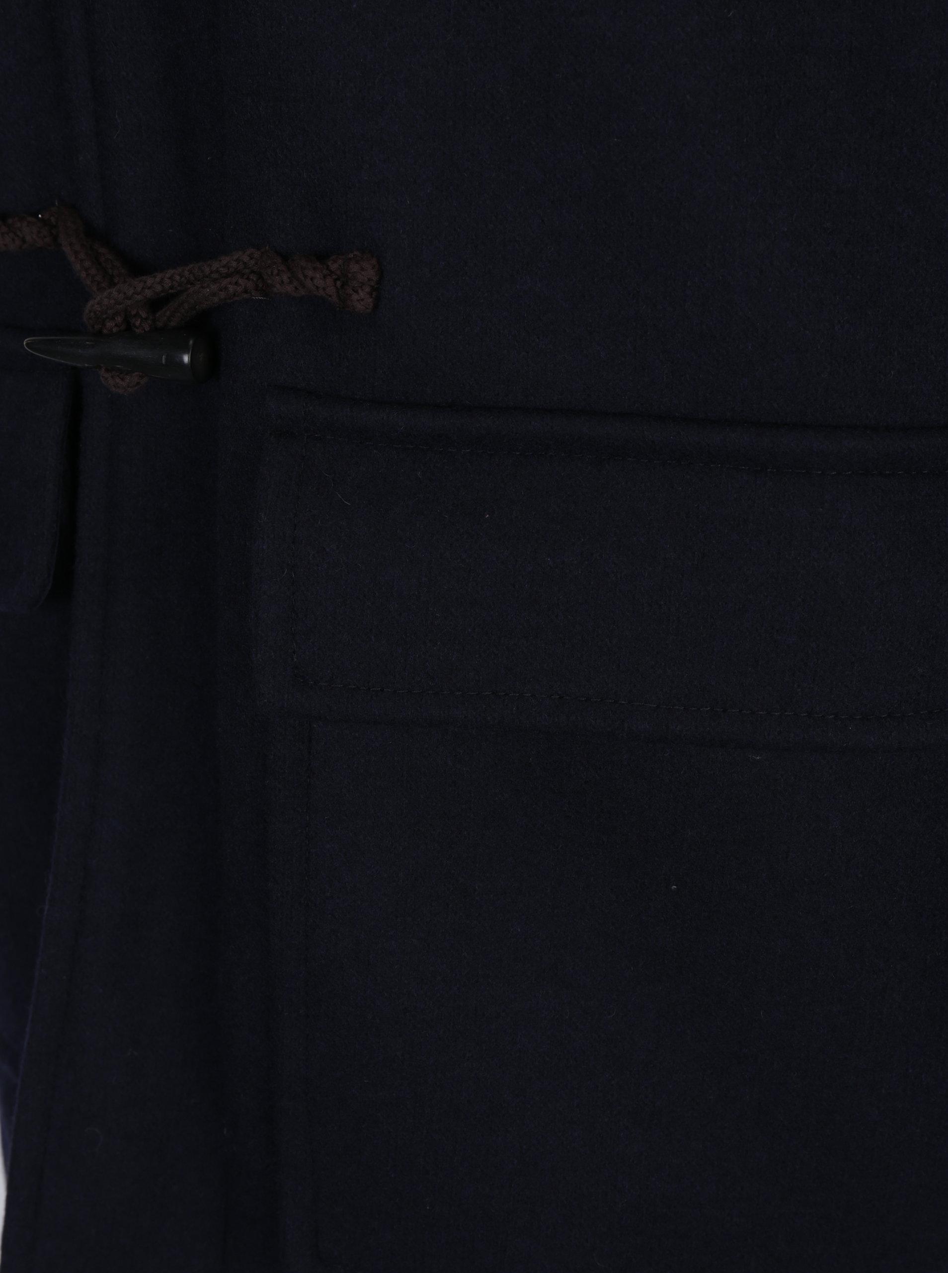 62544e84e Tmavomodrý pánsky zimný vlnený kabát Tommy Hilfiger Jersey   ZOOT.sk
