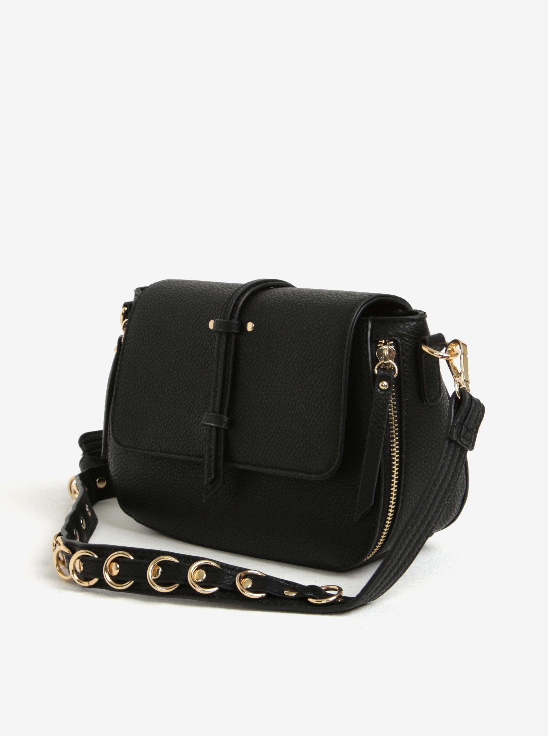 Čierna crossbody kabelka s jemným vzorom Bessie London ... 9da1990adde