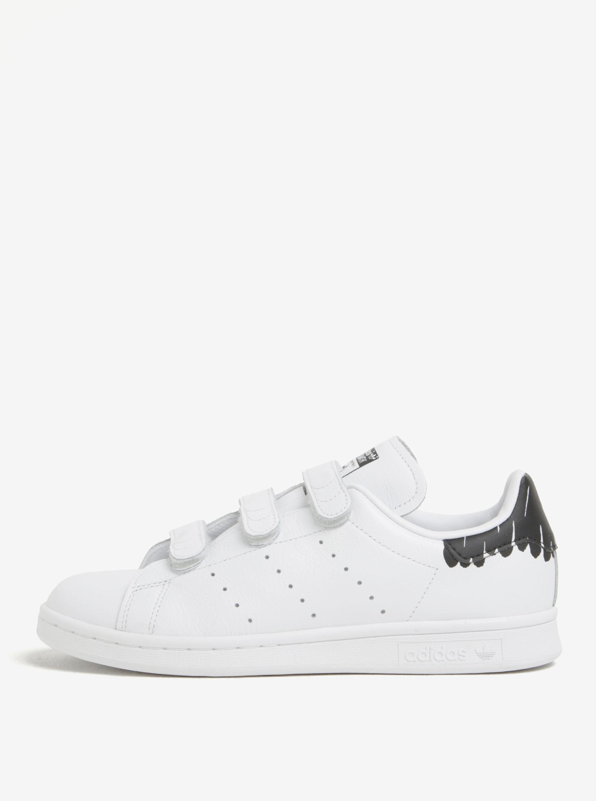 Biele dámske tenisky na suchý zips adidas Originals Stan Smith ... 7f1f2ab8011