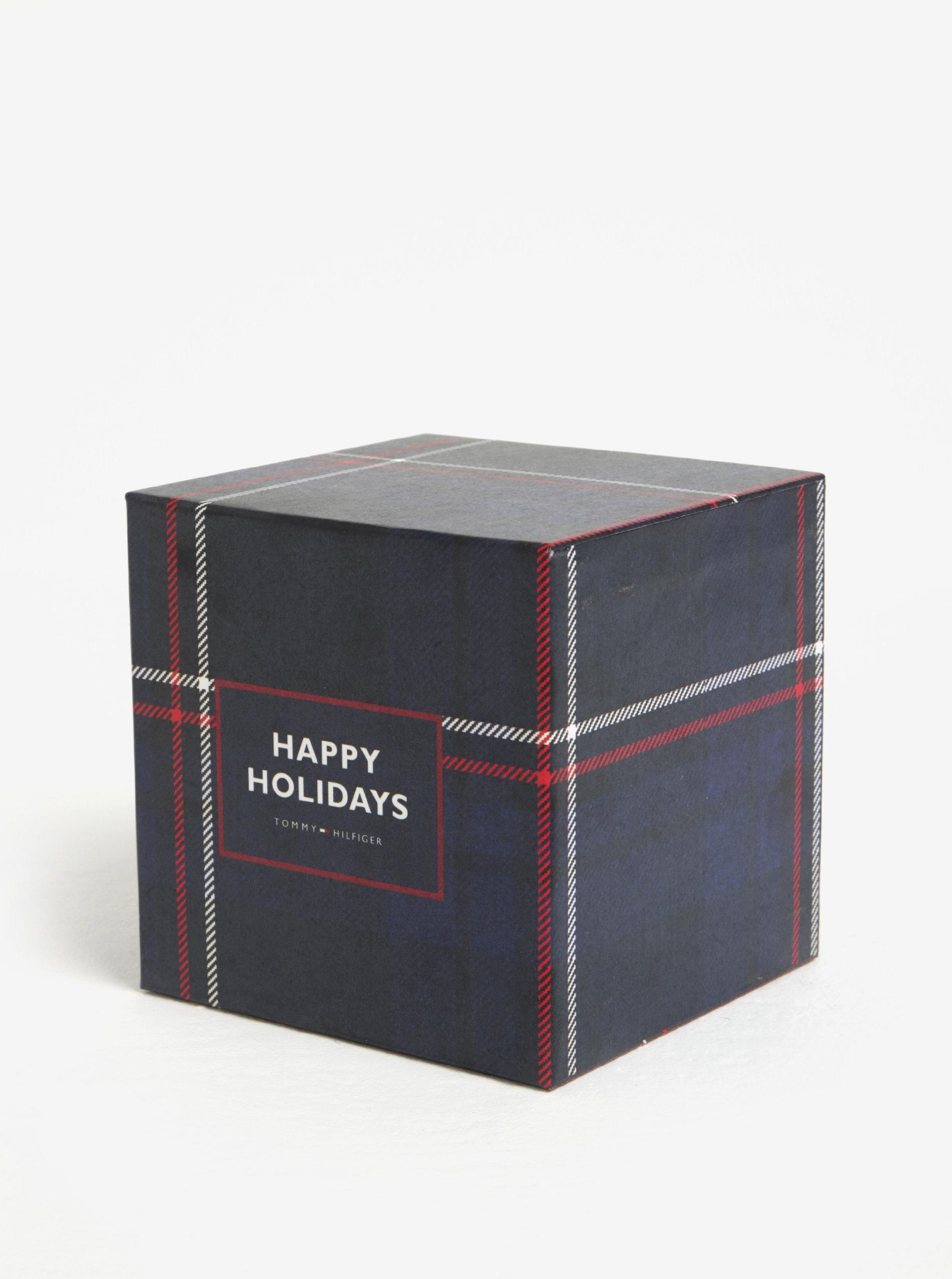 Hnědý pánský kožený široký pásek v dárkové krabičce Tommy Hilfiger Denton  ... 5cb9011dee
