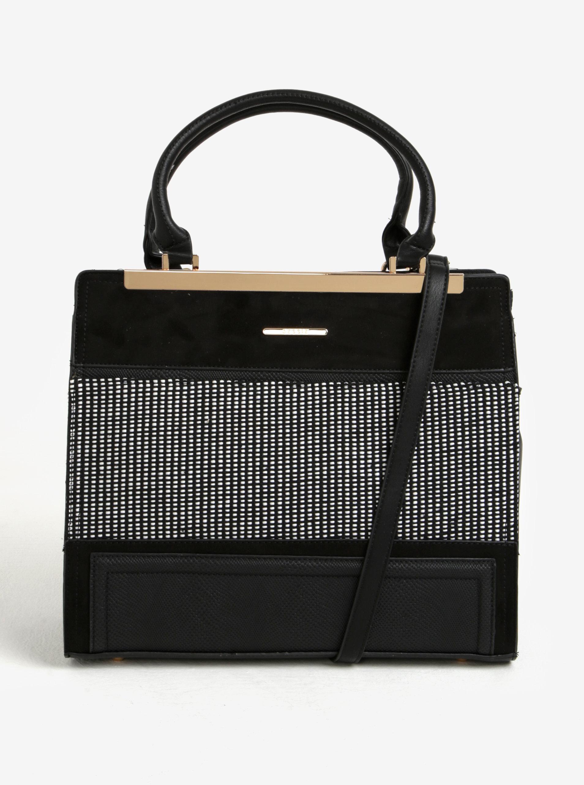 caa39b4cb2 Čierna vzorovaná kabelka do ruky Bessie London ...