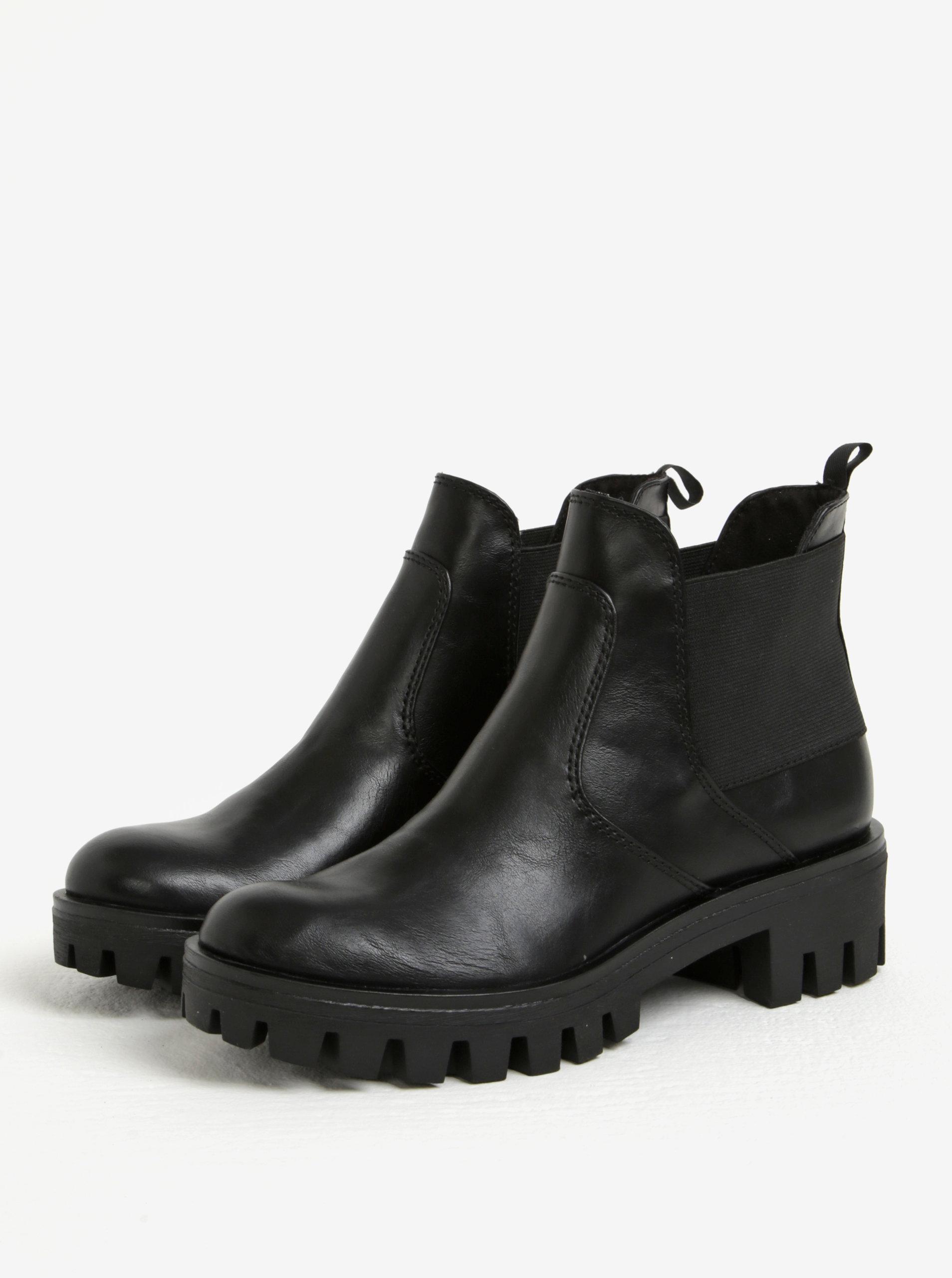 7590c96572fa Čierne chelsea topánky na nízkej platforme Tamaris ...