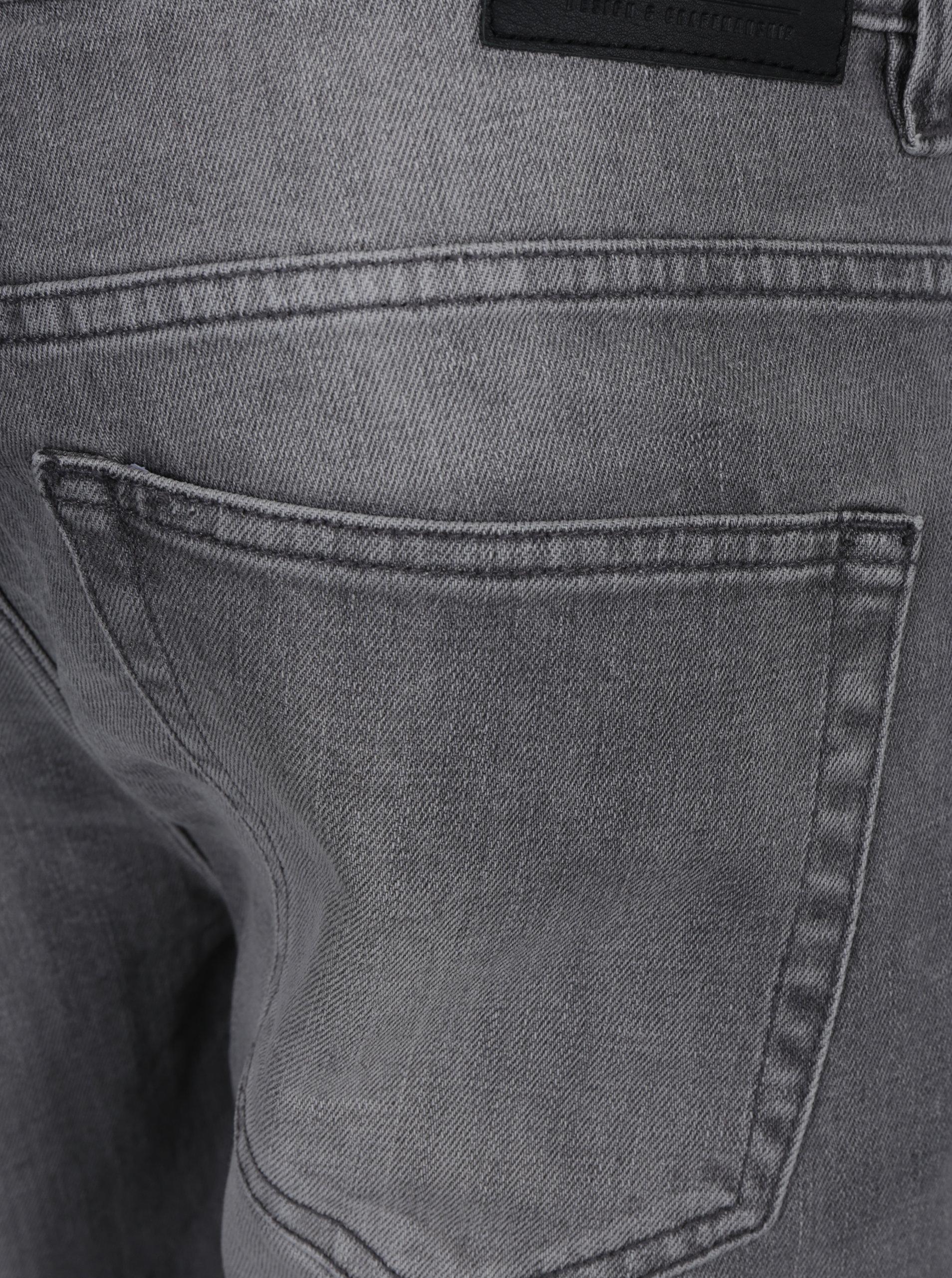 Světle šedé slim fit džíny s vyšisovaným efektem ONLY   SONS Loom ... 10694532ad