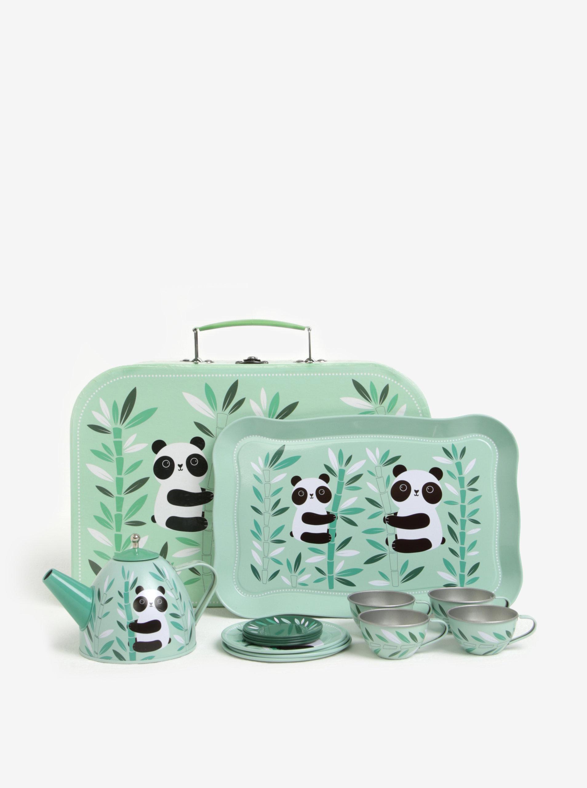 eb892354661e8 Zelená detská čajová súprava s motívom pandy Sass & Belle Aiko Panda ...