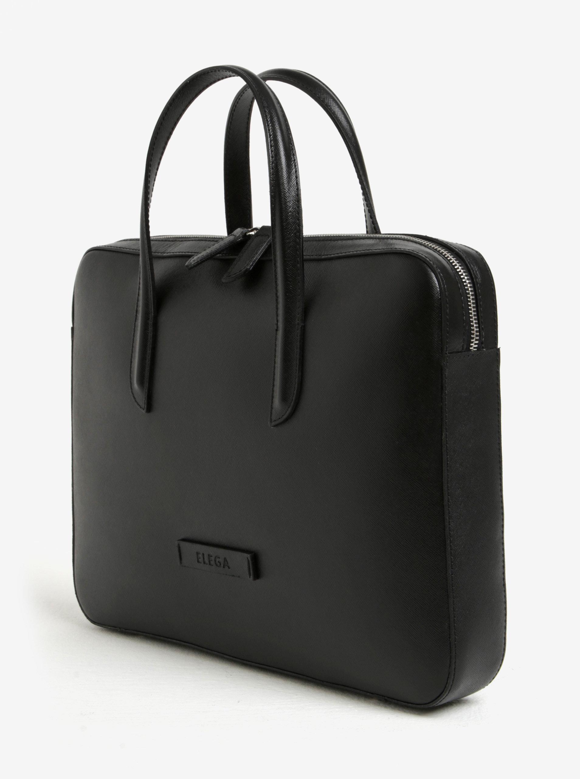 72f78a1ee3 Černá dámská kožená taška na notebook ELEGA Lester ...