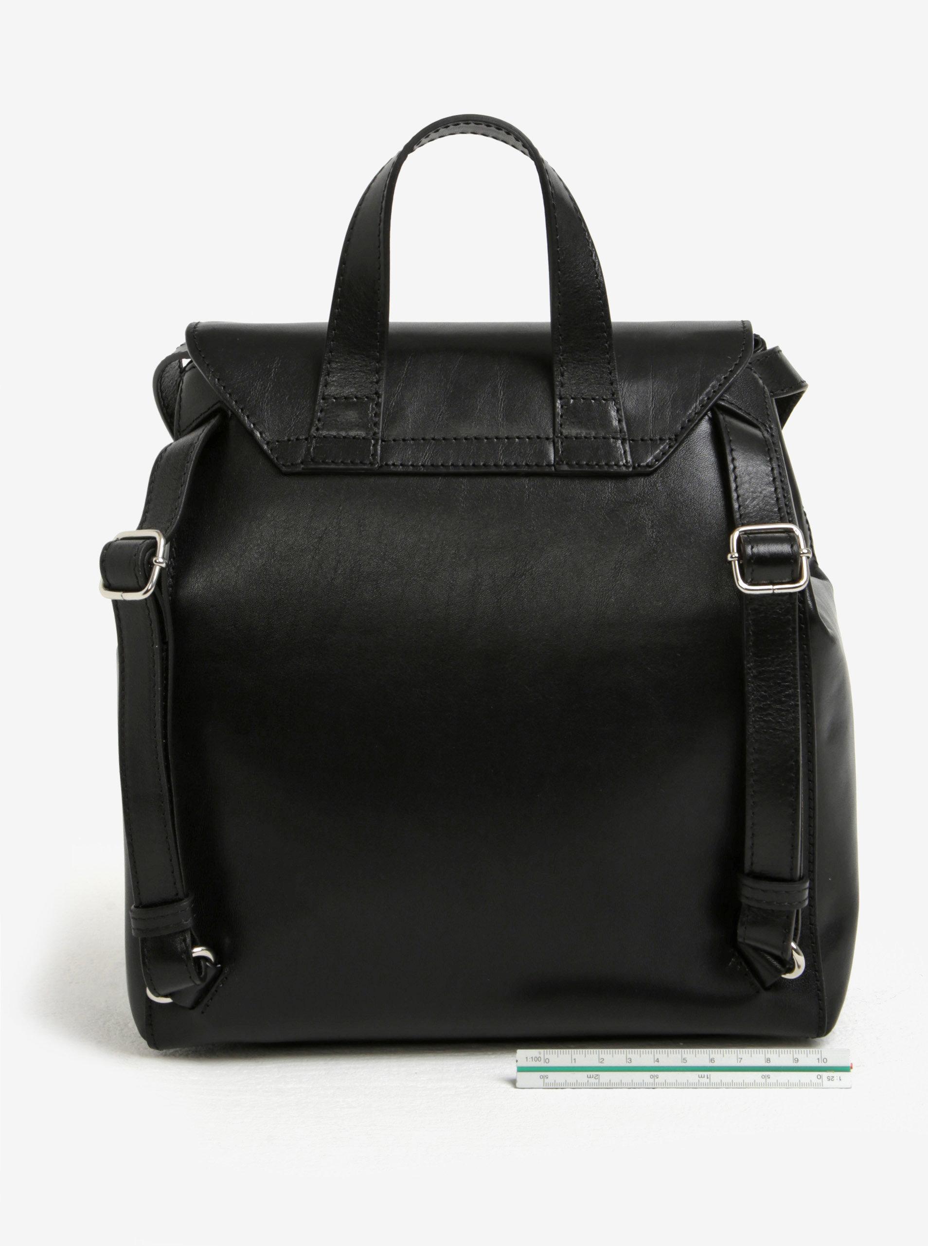 51fa6eda22c Černý dámský kožený batoh ELEGA Shirah ...