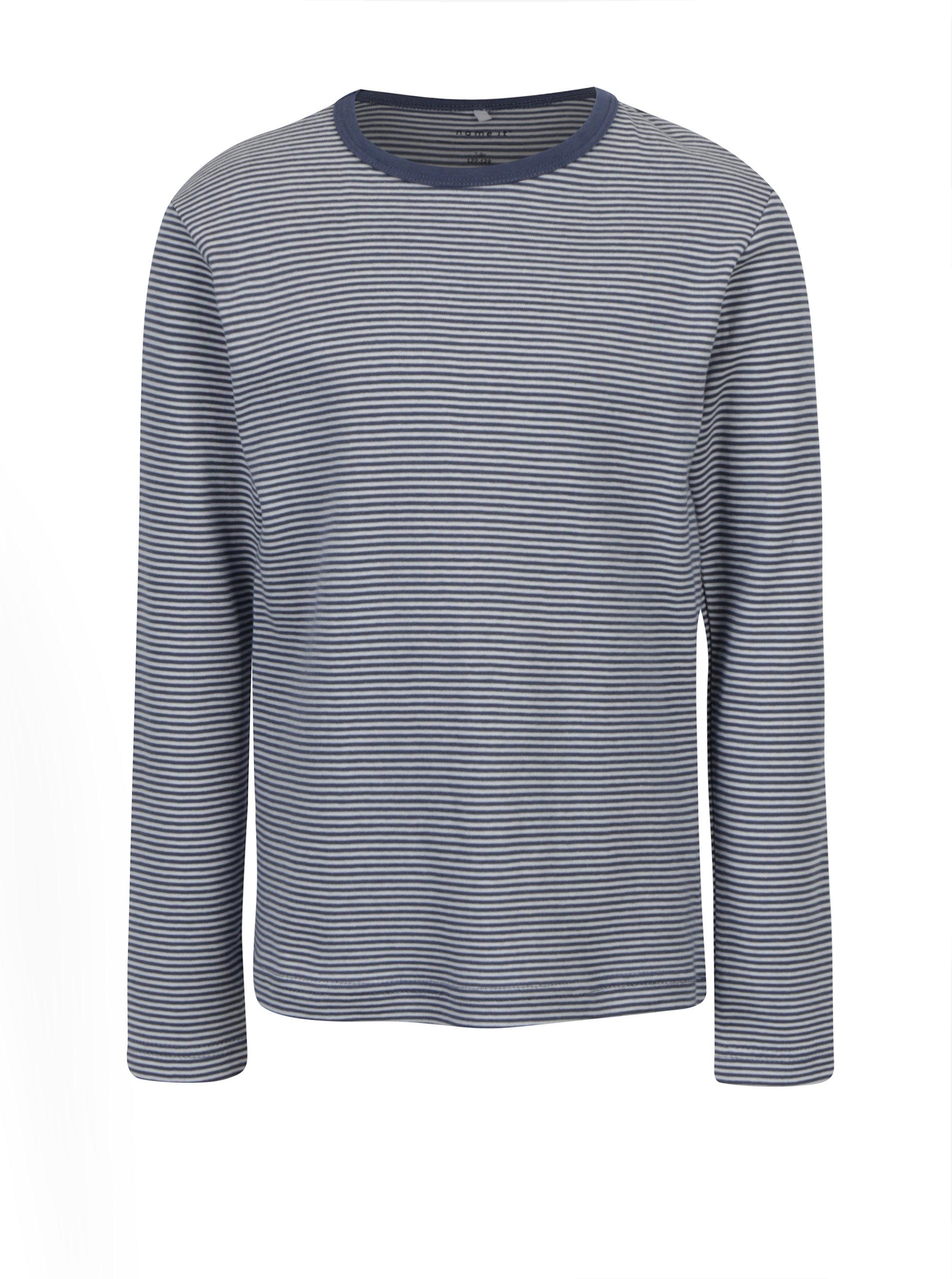 Krémovo-modré holčičí pruhované tričko s dlouhým rukávem name it Villy ... d806dd8b0b