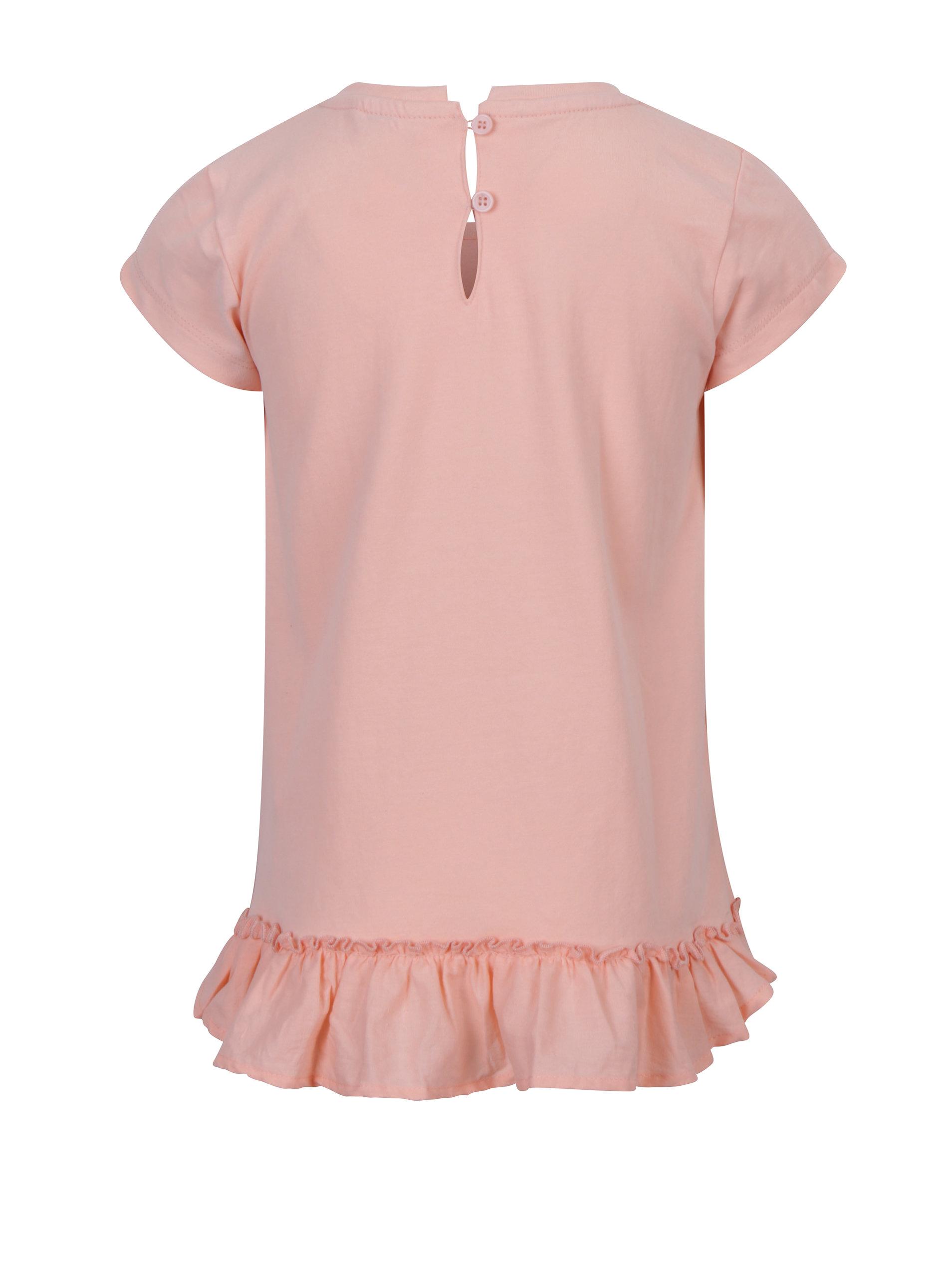 e4d52d256534 Světle růžové holčičí tričko s potiskem 5.10.15.