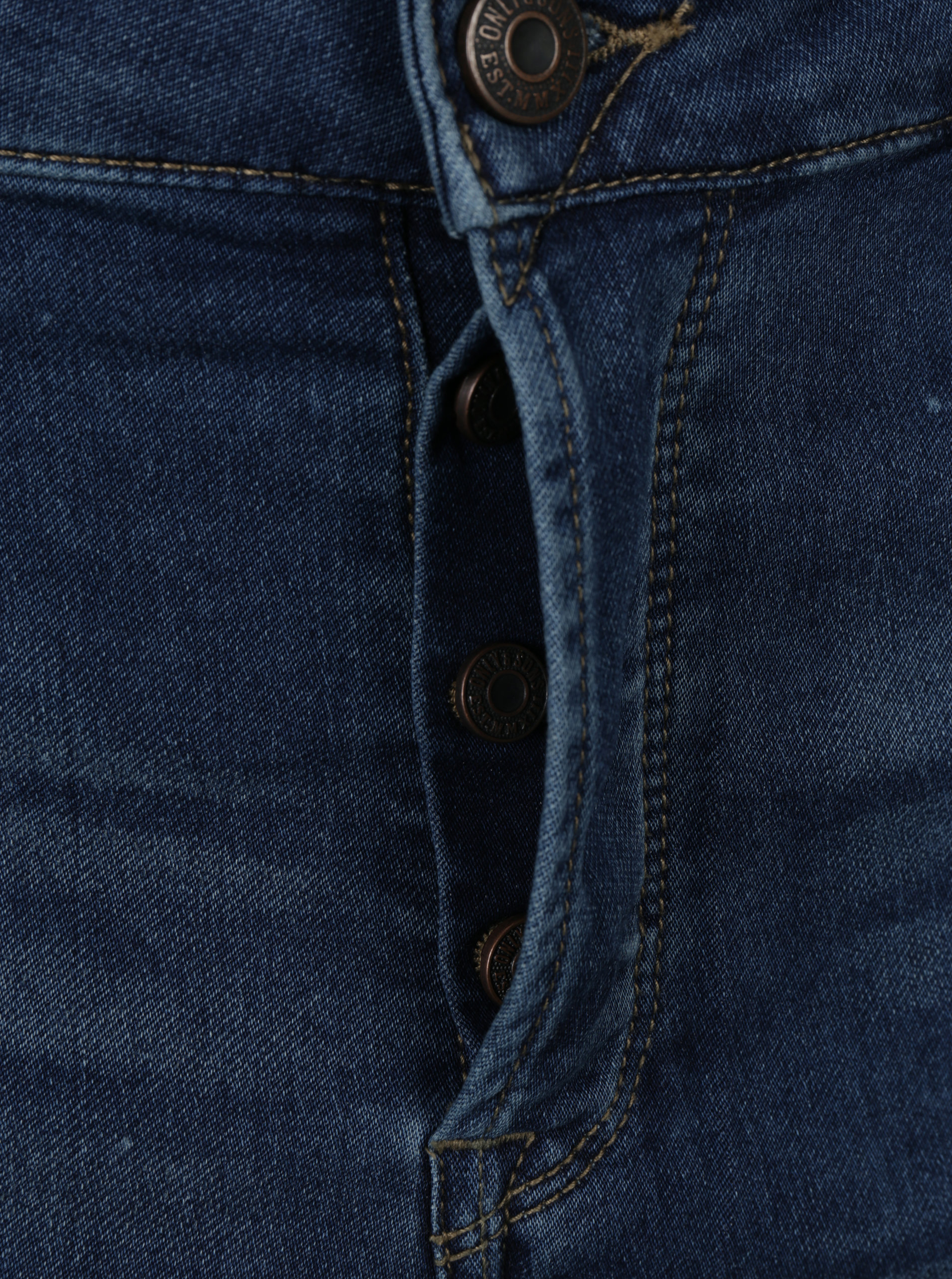 Modré slim džíny s vyšisovaným efektem ONLY   SONS Loom ... ff818616e2
