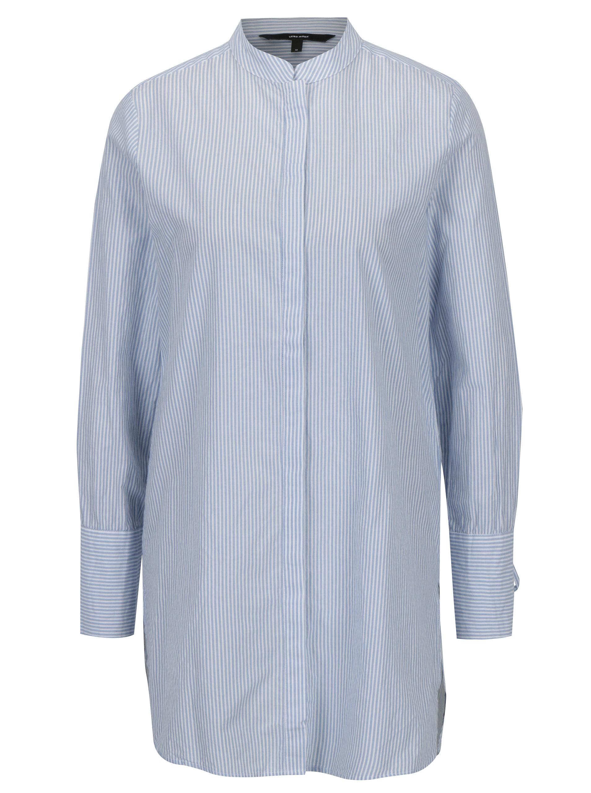 1c5c6e685a00 Modro-biela dlhá košeľa VERO MODA Juljane ...