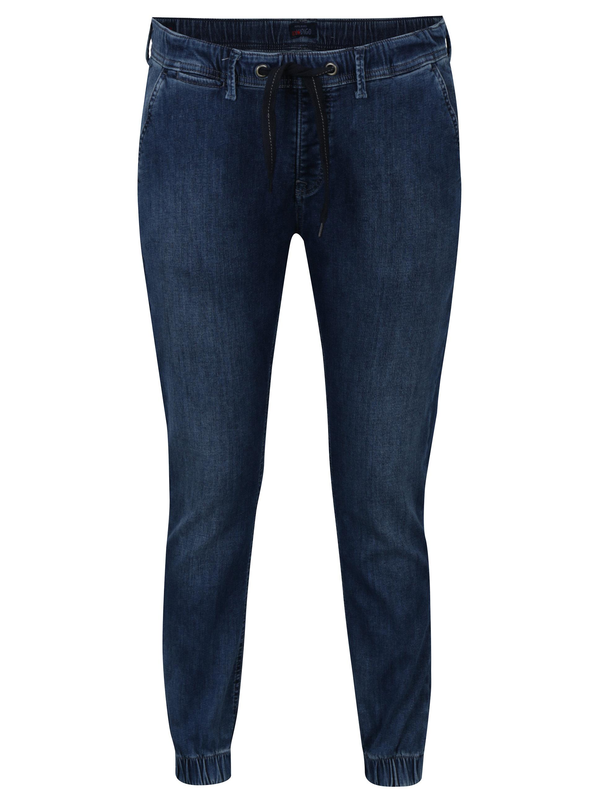 a93e88d14c5e Modré dámské džínové jogger kalhoty Pepe Jeans Cosie ...