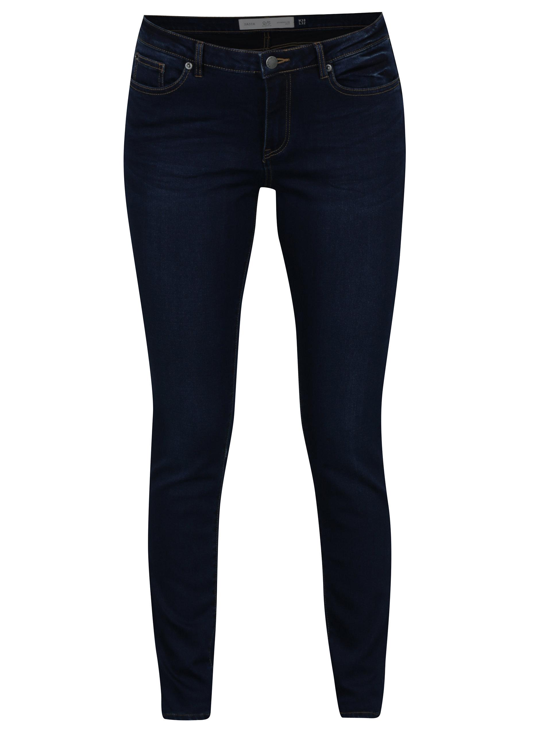 7a48998ef8c Tmavě modré dámské super slim džíny QS by s.Oliver