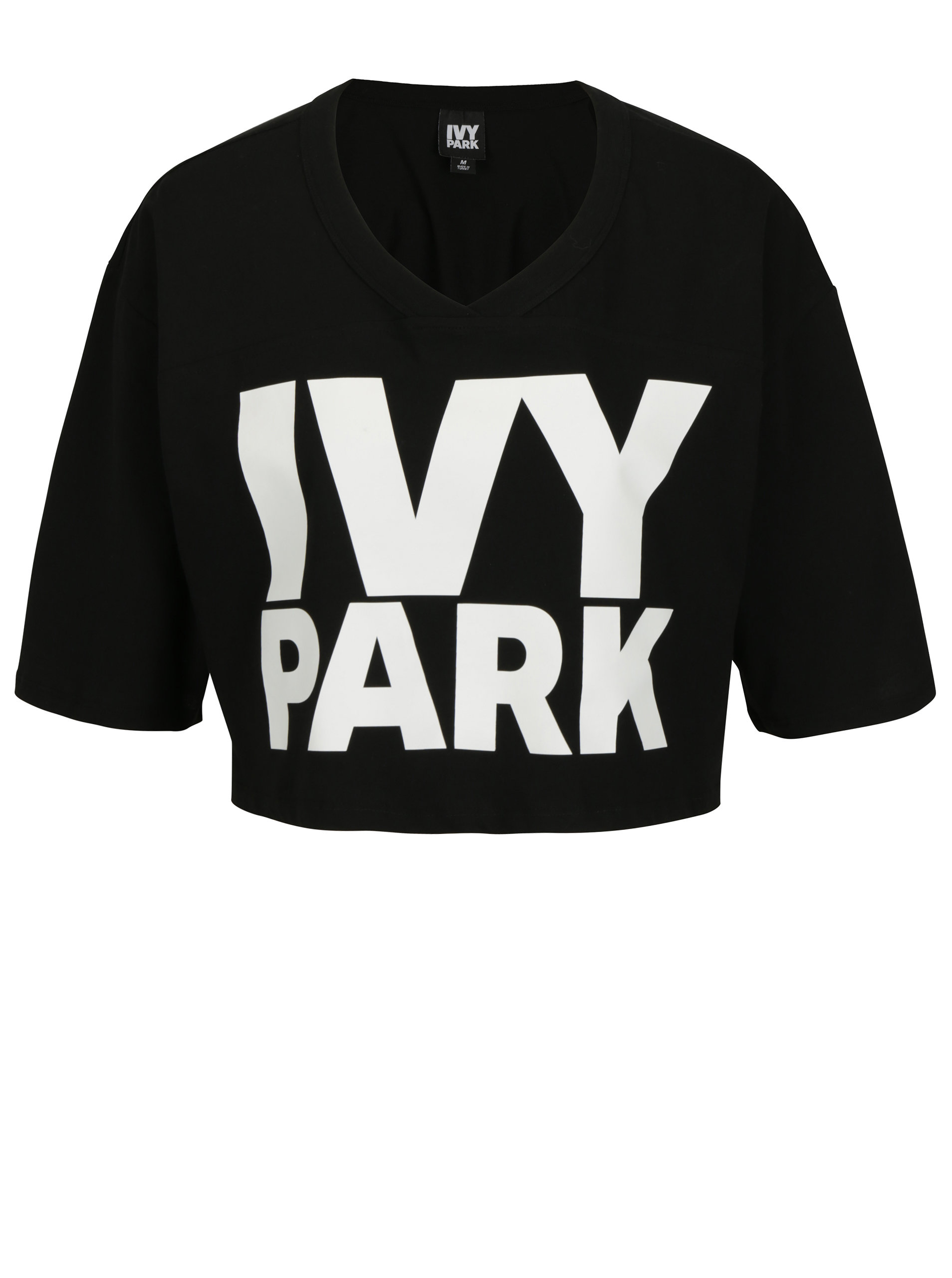 3c13f1bc874 Černý crop top s potiskem Ivy Park ...
