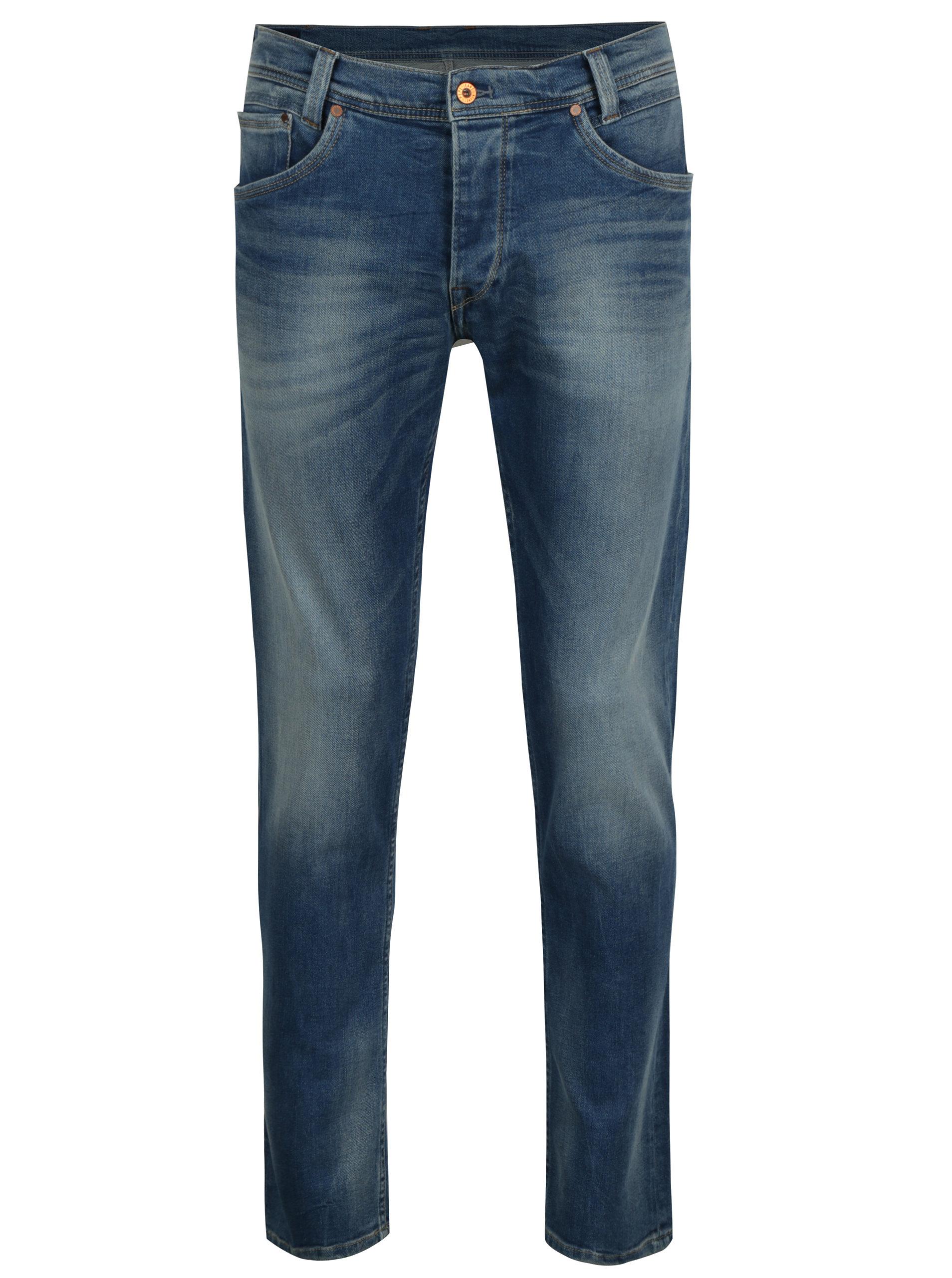 Modré pánské regular fit džíny Pepe Jeans Spike ... 06d923304d