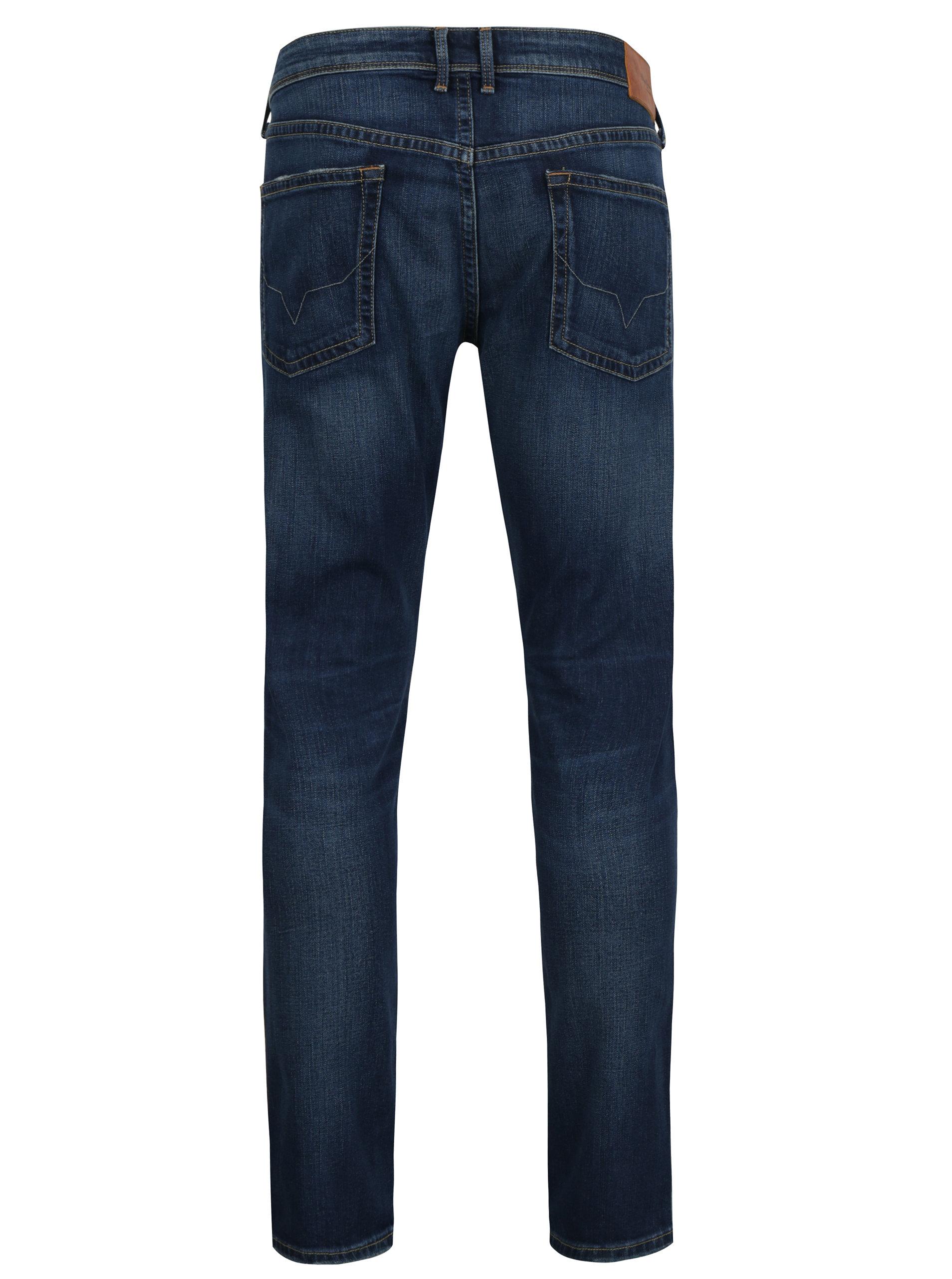d0855750cdb Modré pánské slim džíny s nízkým pasem Pepe Jeans Hatch ...