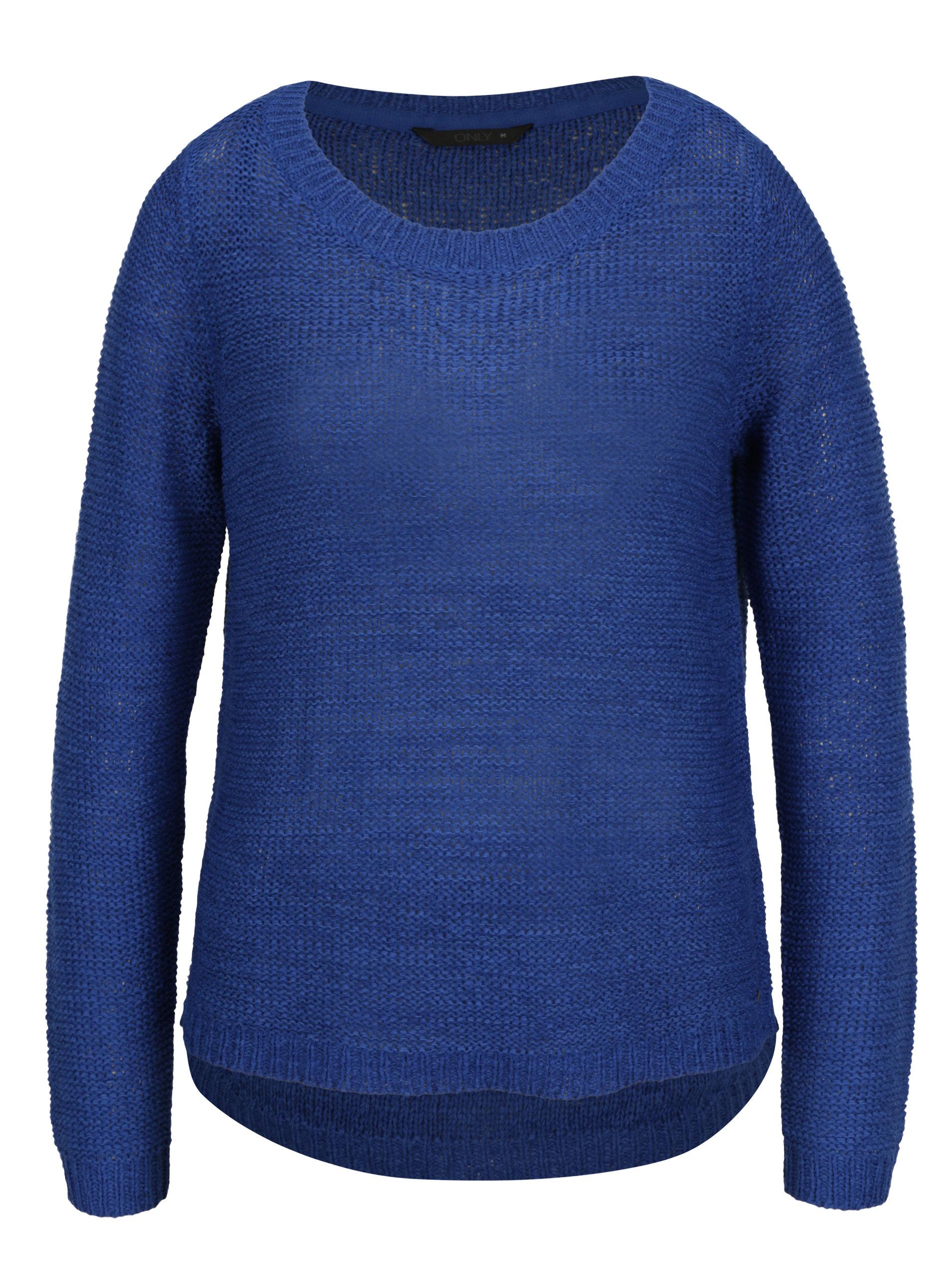 ae6b1fea139 Modrý pletený svetr ONLY Geena ...