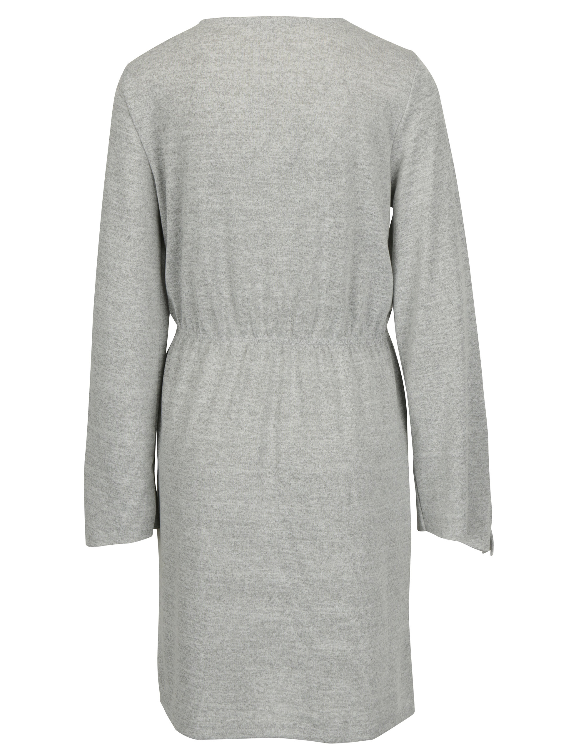 Světle šedé volné žíhané šaty VERO MODA Naturall ... 47ed3cfdd0