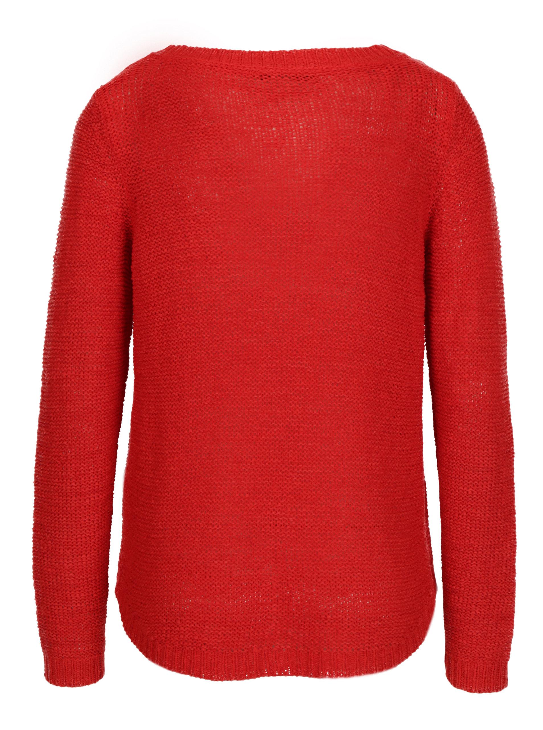 67f4f243f685 Červený pletený sveter ONLY Geena ...