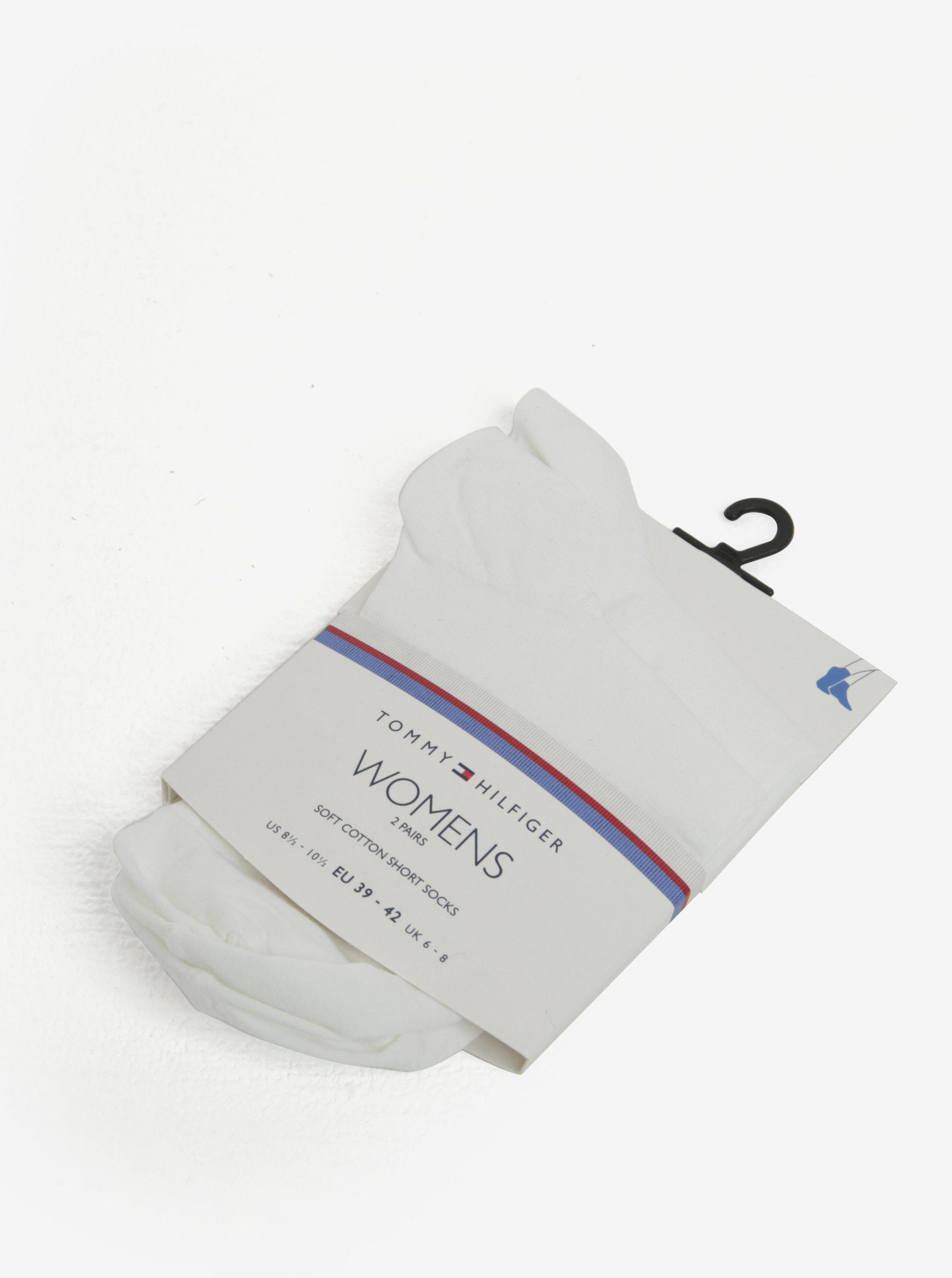 Súprava dvoch párov dámskych ponožiek v bielej farbe Tommy Hilfiger ... d57da5f1569
