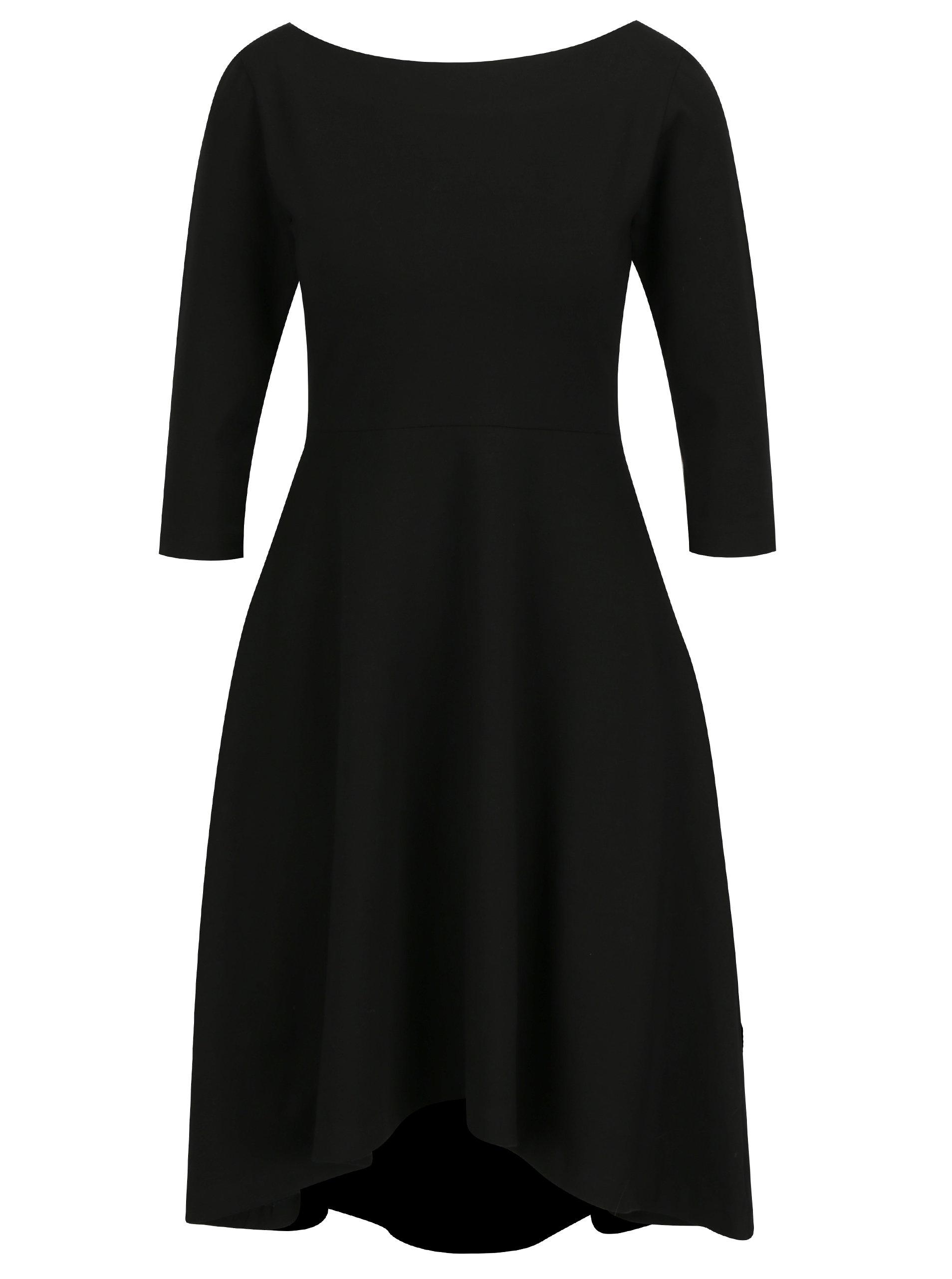 Čierne áčkové šaty s 3 4 rukávmi miestni Bla ... 62dc5715272