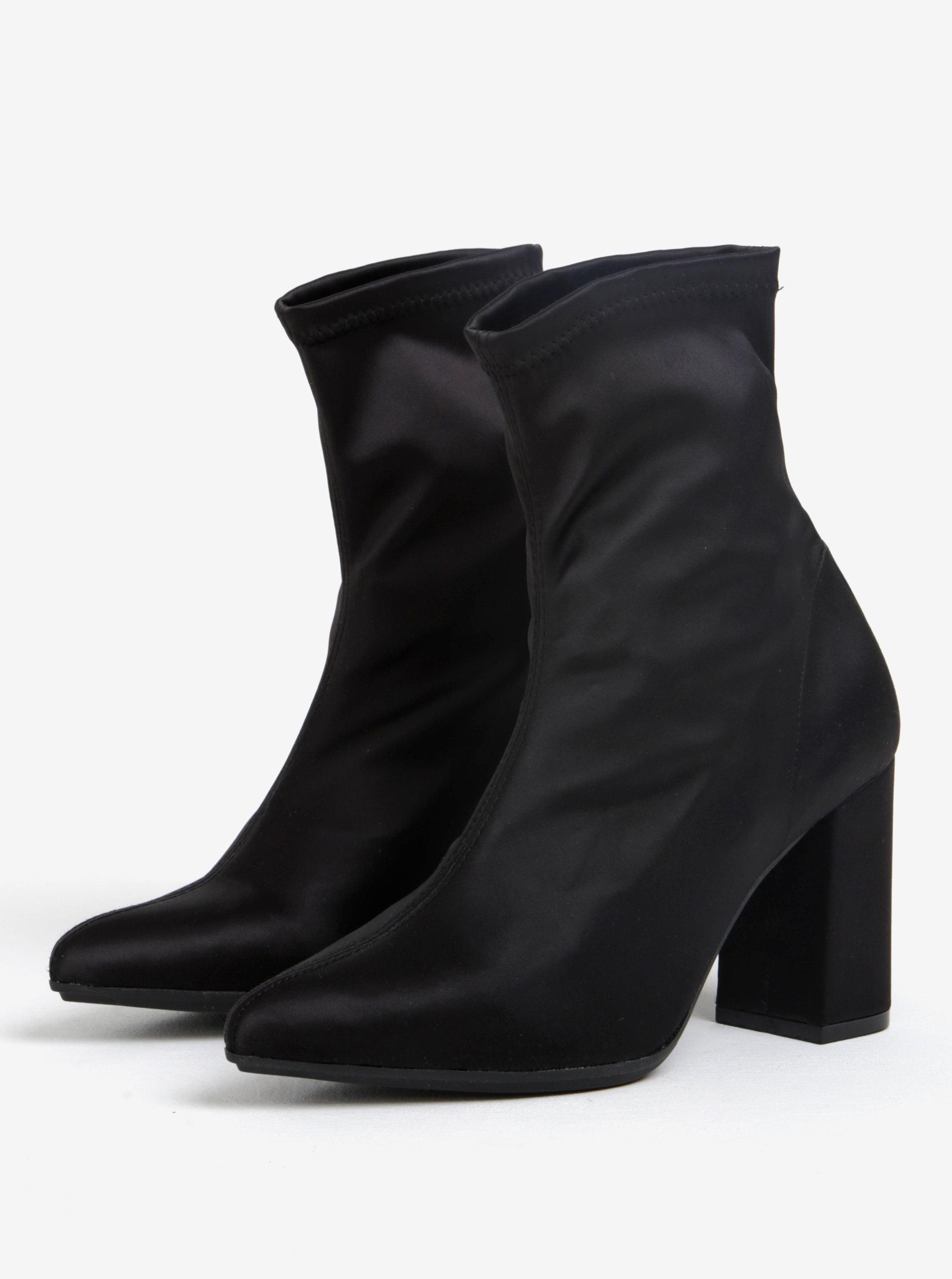 7c9020175683 Čierne členkové topánky na podpätku OJJU ...
