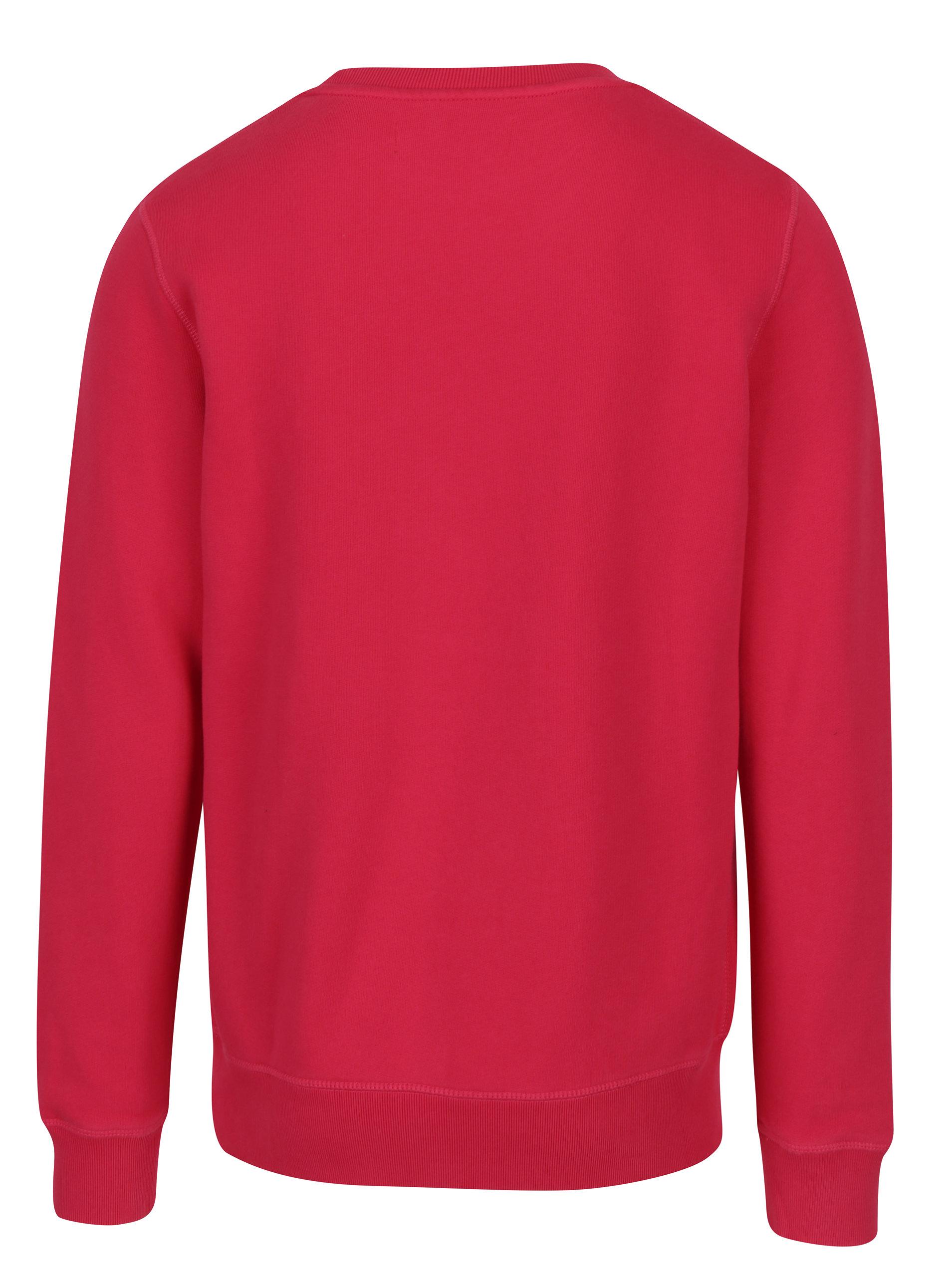 a5b37522b7 Ružová pánska mikina s výšivkou Calvin Klein Jeans Harpo ...
